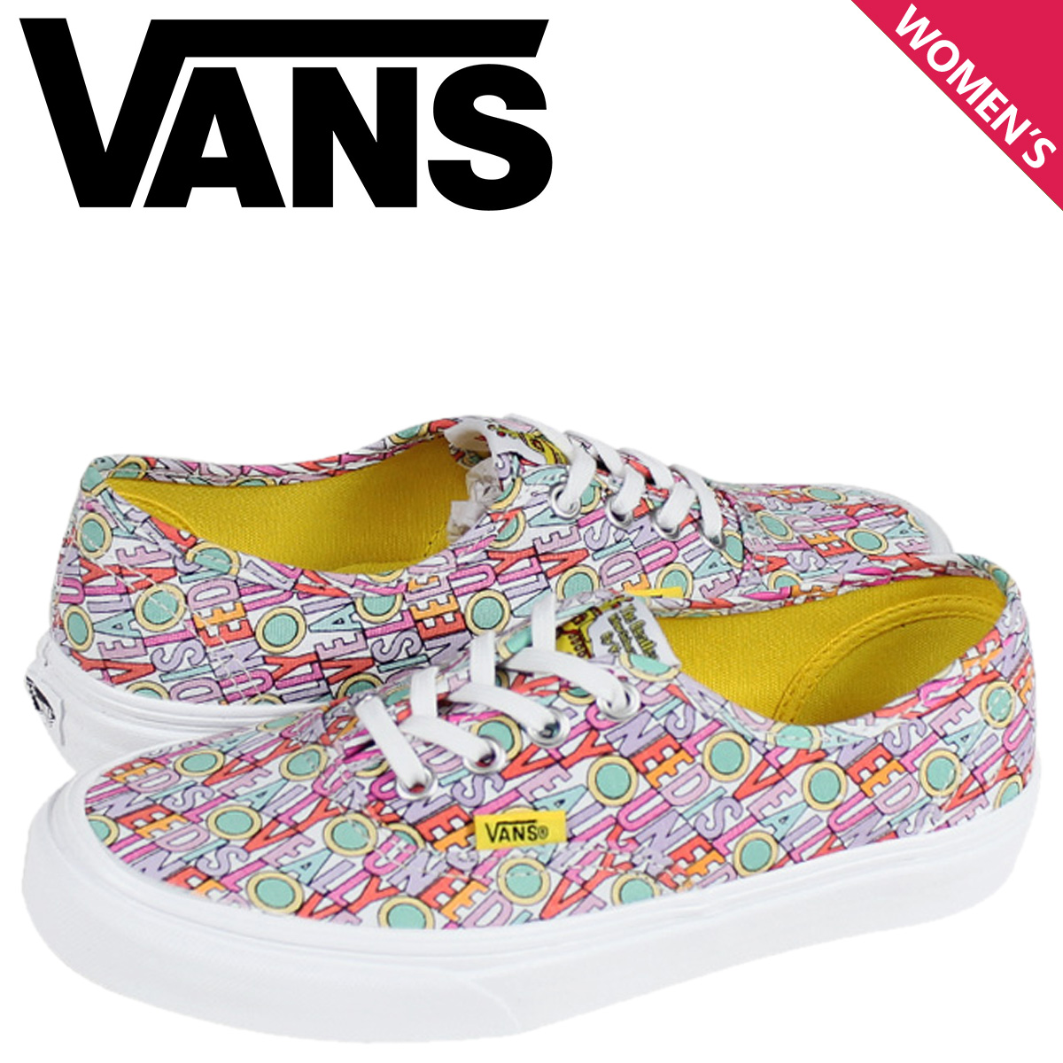 28a8b7f161fa85 Sugar Online Shop  Vans VANS women s AUTHENTIC BEATLES sneakers ...