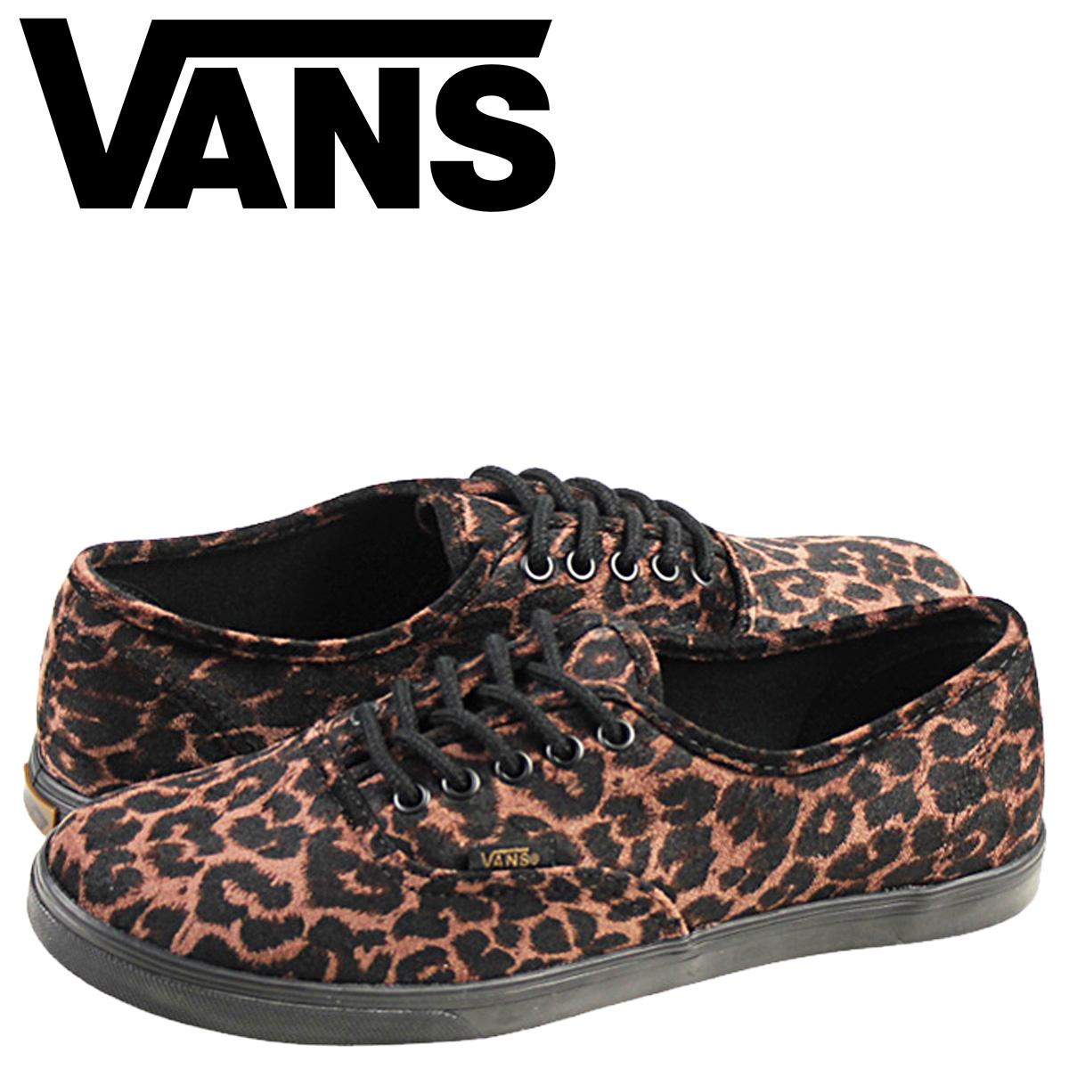 Sugar Online Shop  Vans VANS authentic sneakers Lady s AUTHENTIC LO PRO  SUEDE LEOPARD VN-0W7NEXF shoes brown  c5f8e1a39578