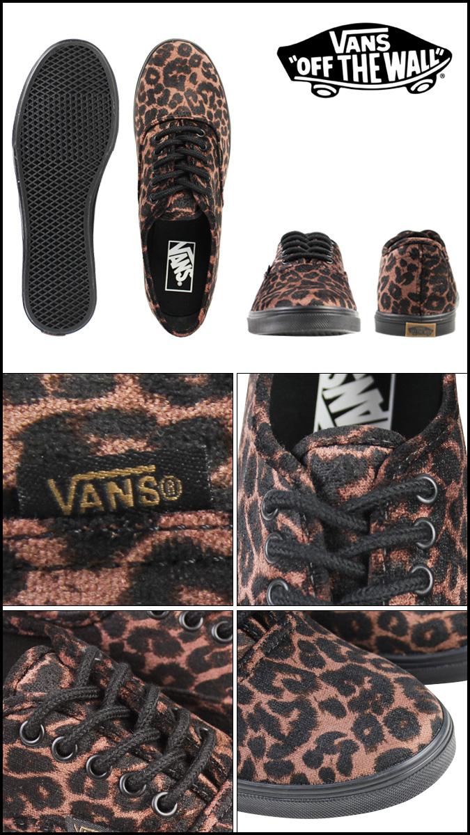 7560ce2636 Vans VANS authentic sneakers Lady s AUTHENTIC LO PRO SUEDE LEOPARD VN-0W7NEXF  shoes brown