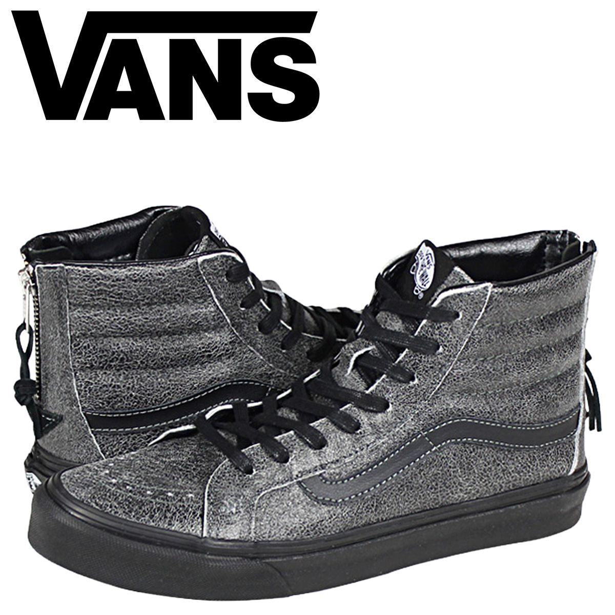 93cc8c31cacdd3 Vans VANS sneakers Lady s SK8-HI SLIM ZIP CRACKLE SUEDE VN-0XH8EPJ men  shoes black