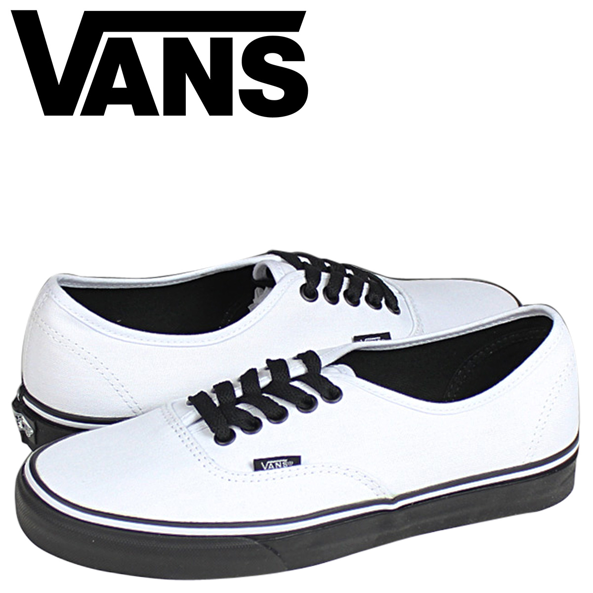 vans unisex black authentic canvas sneakers