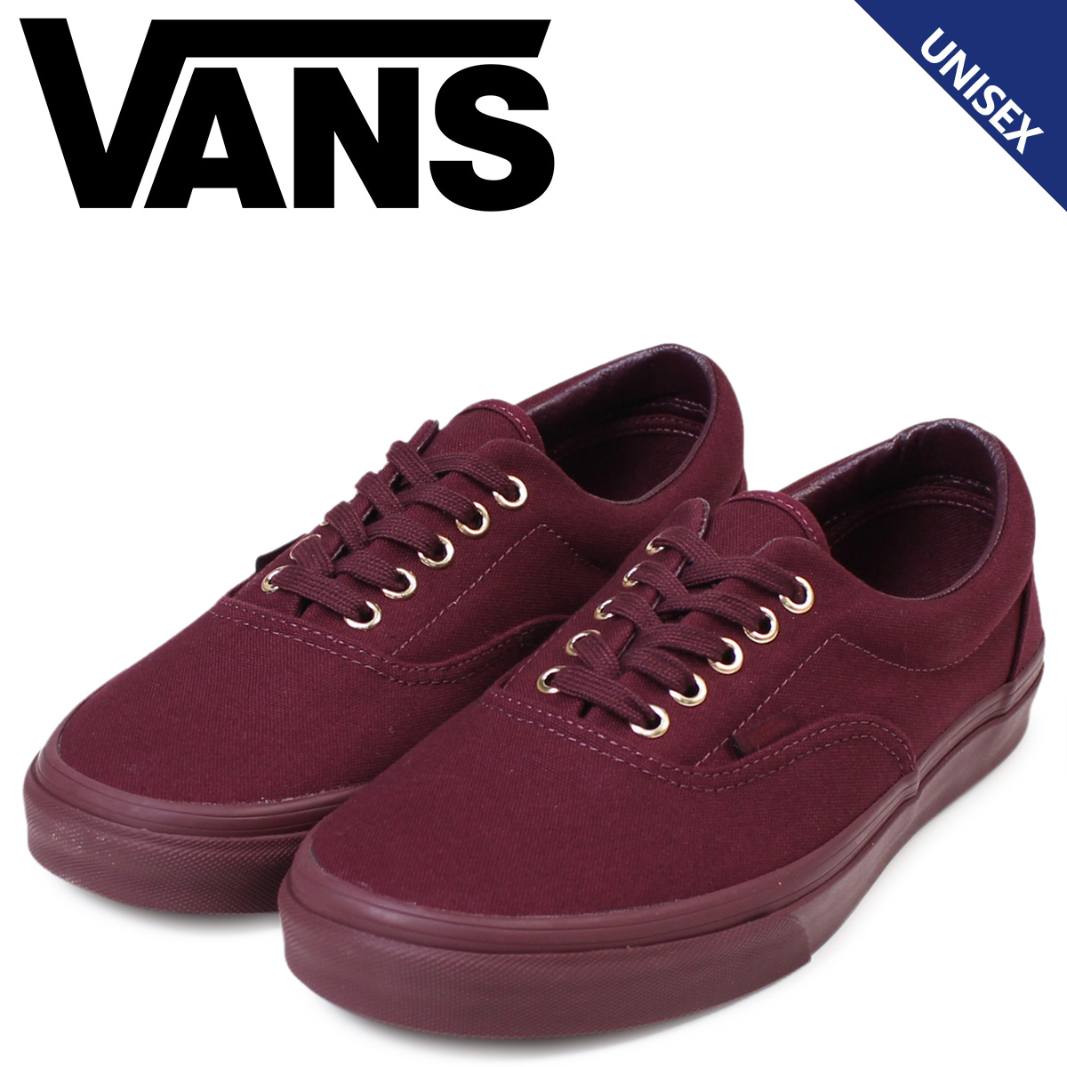 VANS ERA vans sneakers men gap Dis station wagons gills GOLD MONO  VN0003Z5JRR shoes red  1 25 Shinnyu load  2443c084815d