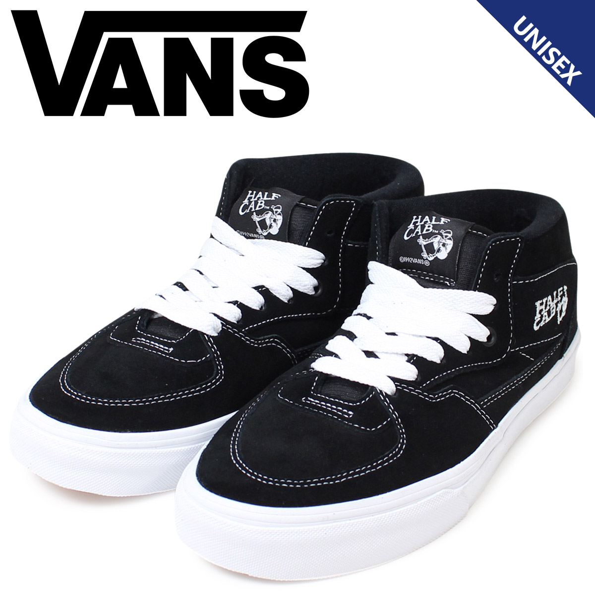 0054e7a470 VANS HALF CAB sneakers men gap Dis vans station wagons half cab VN000DZ3BLK  shoes black  the 1 13 additional arrival