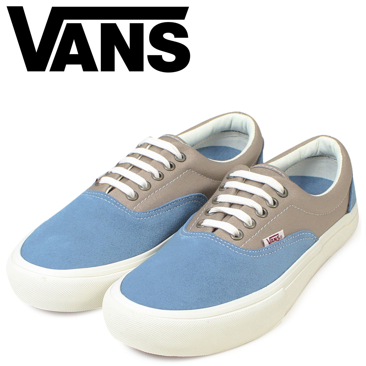 5e7e736eee Vans ERA VANS slip-ons gills men sneakers station wagons VN000VFBK1A shoes  blue X beige