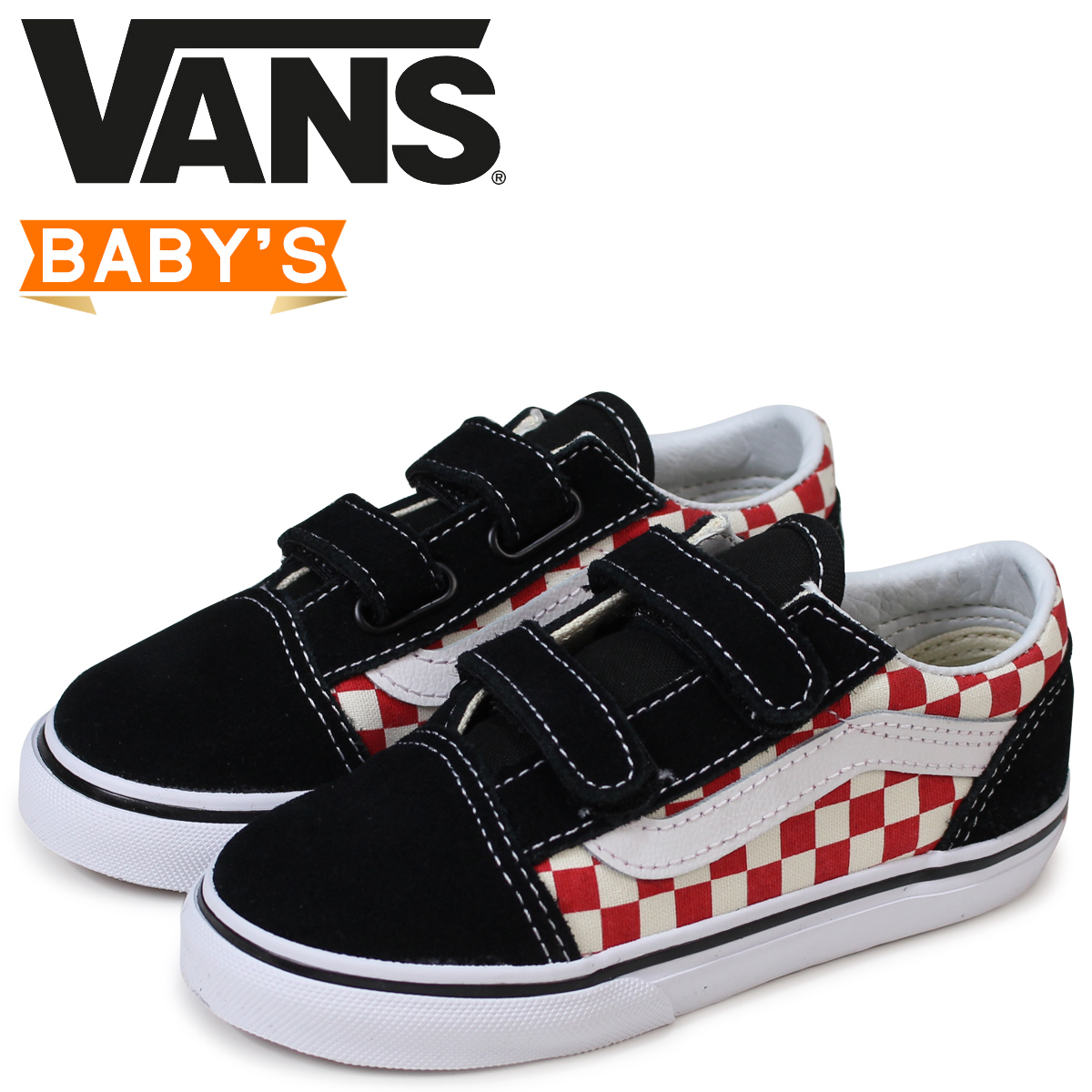 cd0cb1706b1 Vans old school baby sneakers VANS station wagons OLD SKOOL V VN0A344K35U  black  load planned Shinnyu load in reservation product 5 30 containing