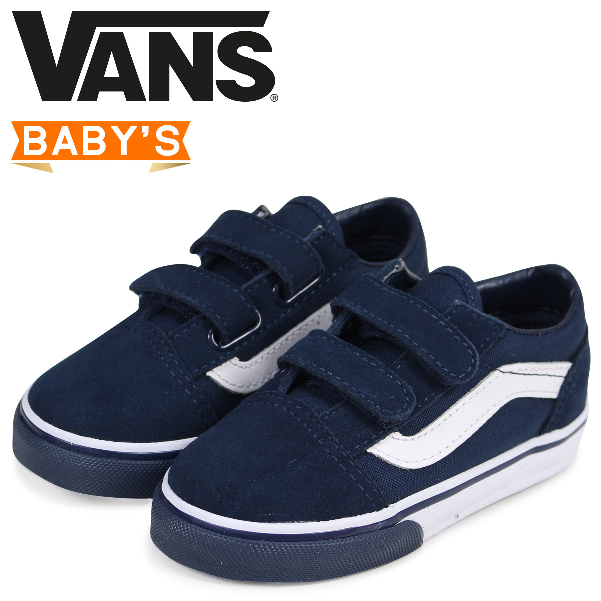 7e417adf18 Vans old school sneakers baby VANS station wagons TODDLER OLD SKOOL VELCRO  VN0A344KQ7I black  2 16 Shinnyu load