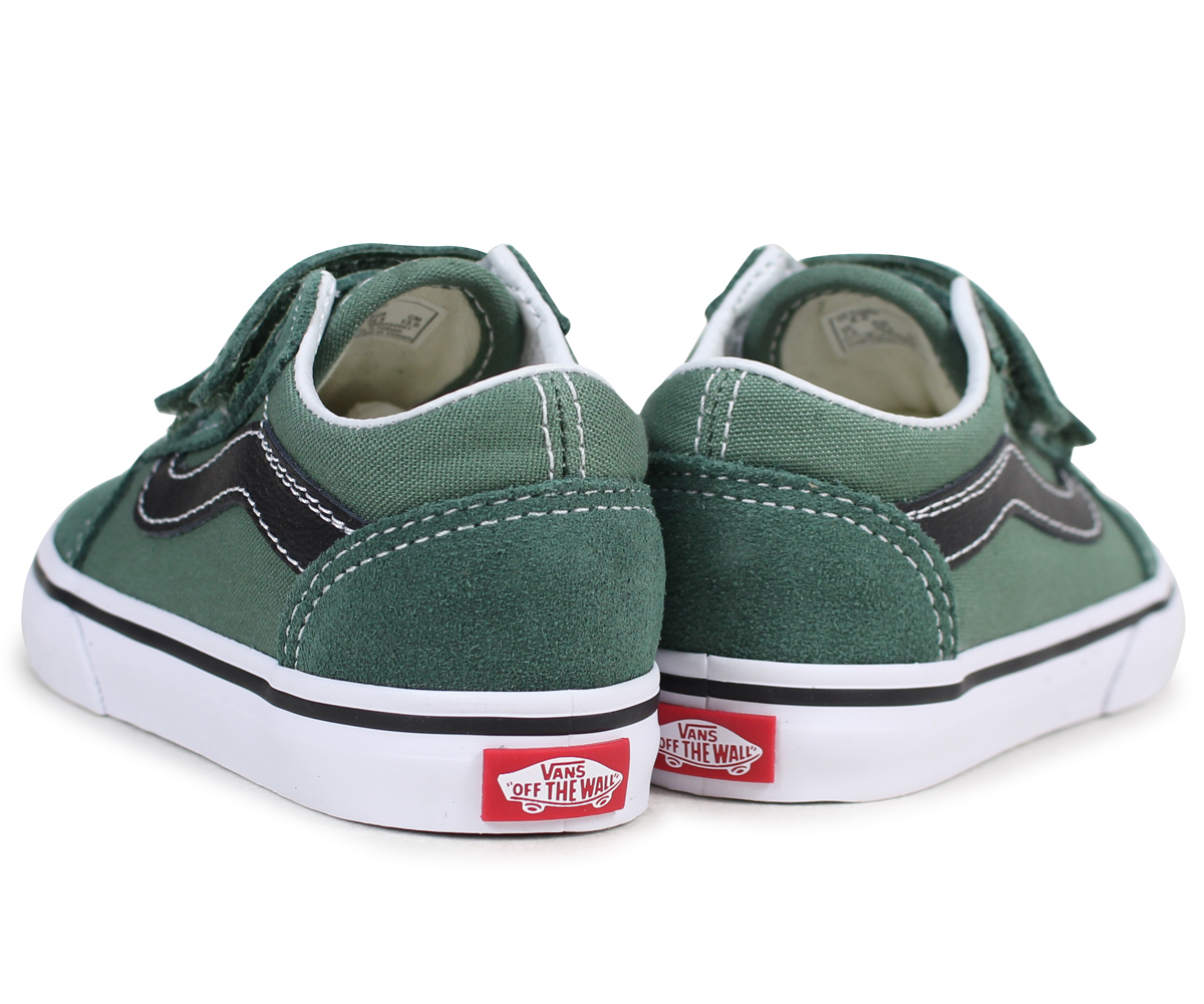 136840a6a84 Vans Old School Sneakers Baby Vans Station Wagons Toddler Old Skool Velcro  Vn0a344kq7m Green 2 16 Shinnyu Load