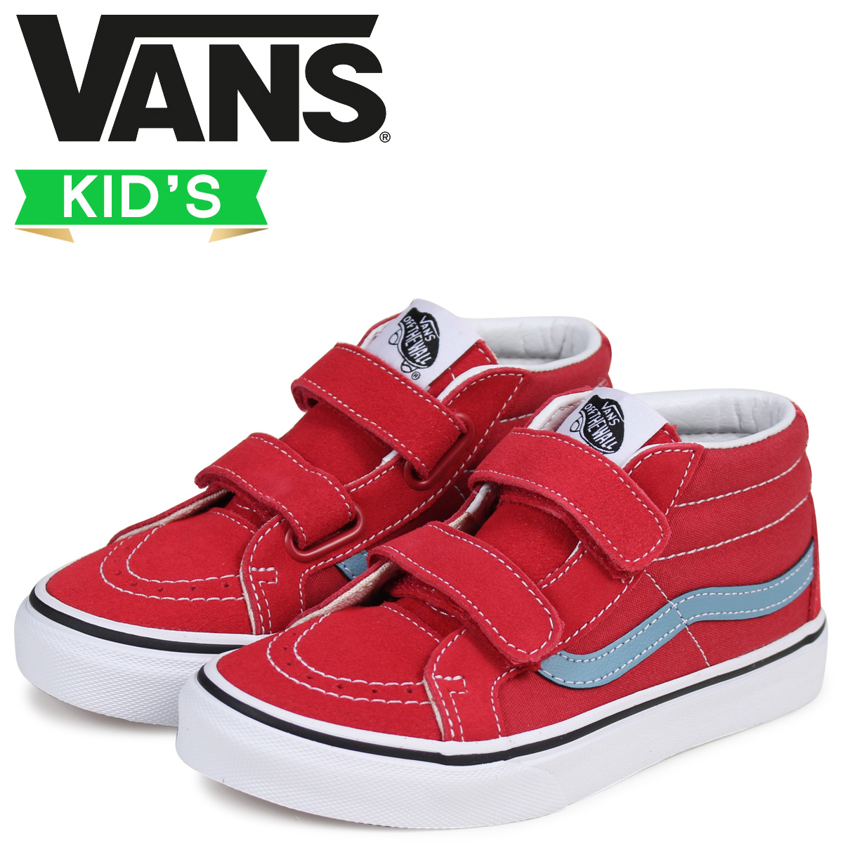buy real new photos best site Vans SK8-MID sneakers kids VANS station wagons KIDS REISSUE VELCRO  VN0A346YQ8C red red