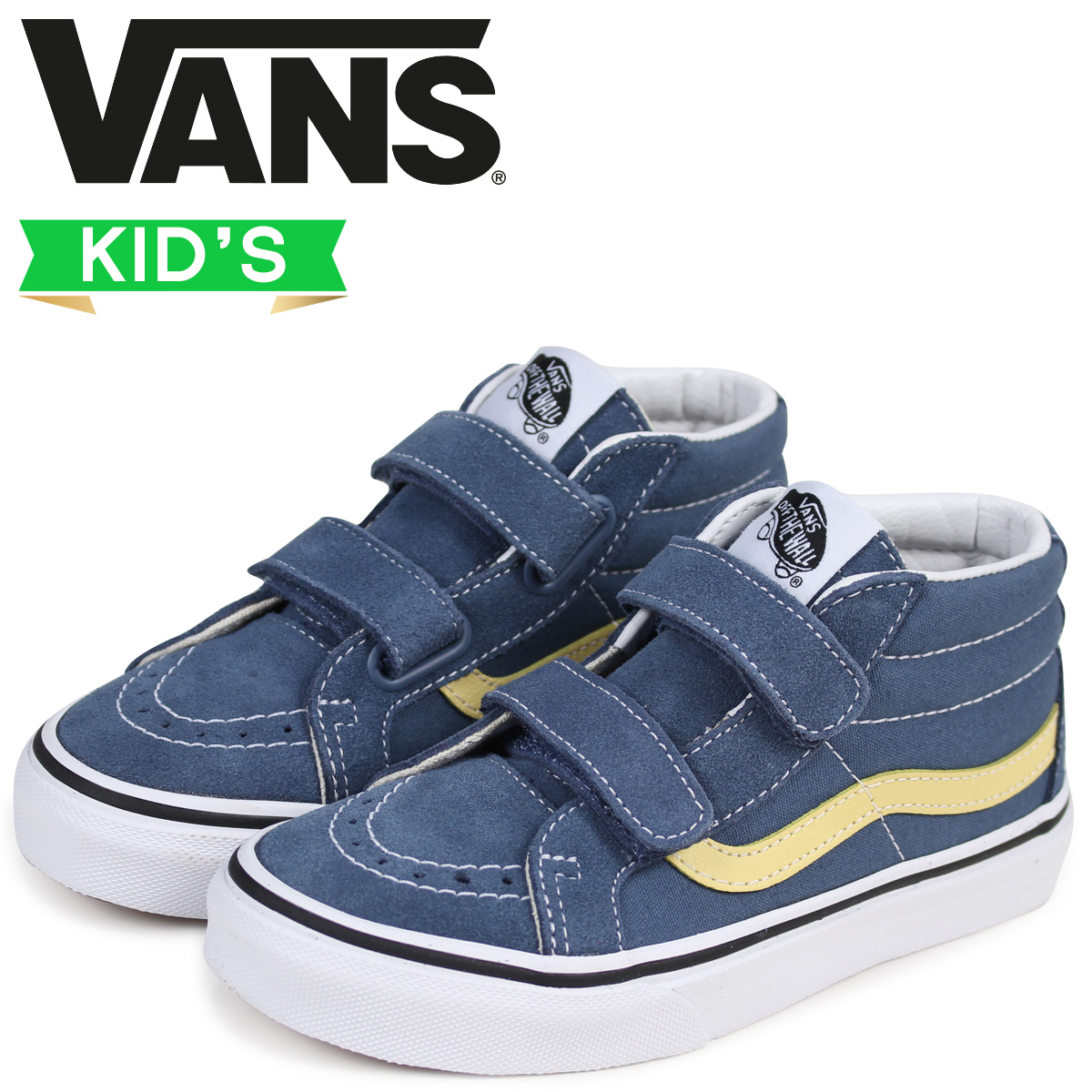 6f53af70cf Vans SK8-MID sneakers kids VANS station wagons KIDS REISSUE VELCRO  VN0A346YQ8D gray  2 16 Shinnyu load