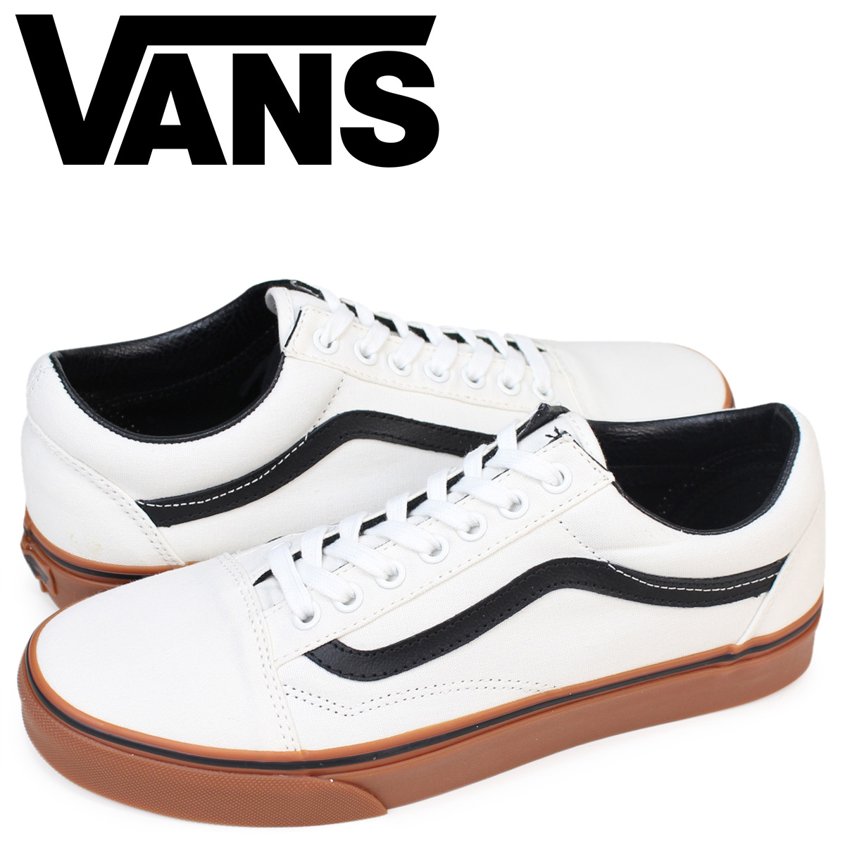 vans old skool white gum