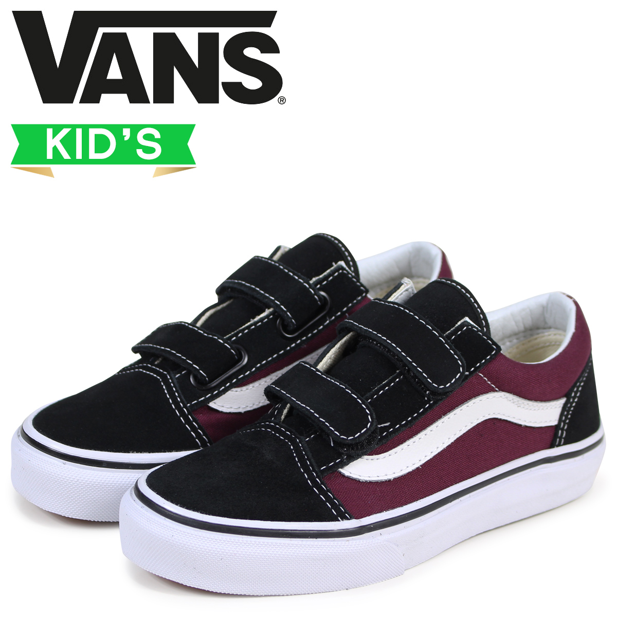 fe3941fae24 Sugar Online Shop  Vans old school kids sneakers VANS station wagons OLD  SKOOL V VN0A38HDQ7J black  3 15 Shinnyu load