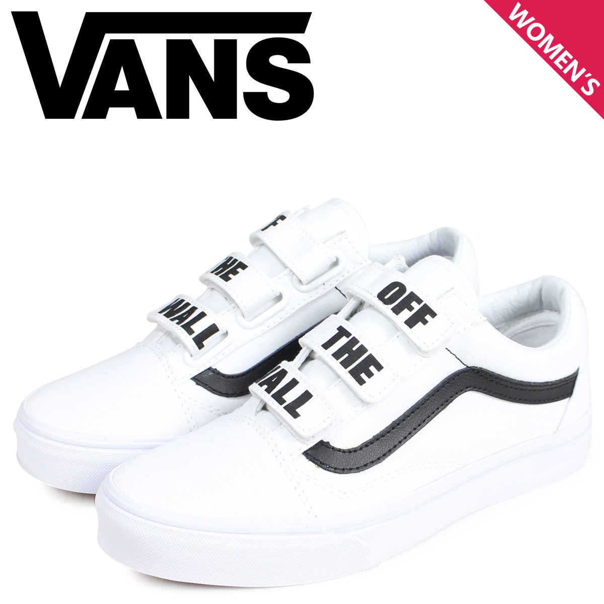 Vans VANS old school sneakers Velcro Lady's station wagons OLD SKOOL V OFF THE WALL white white VN0A3D29R2Q