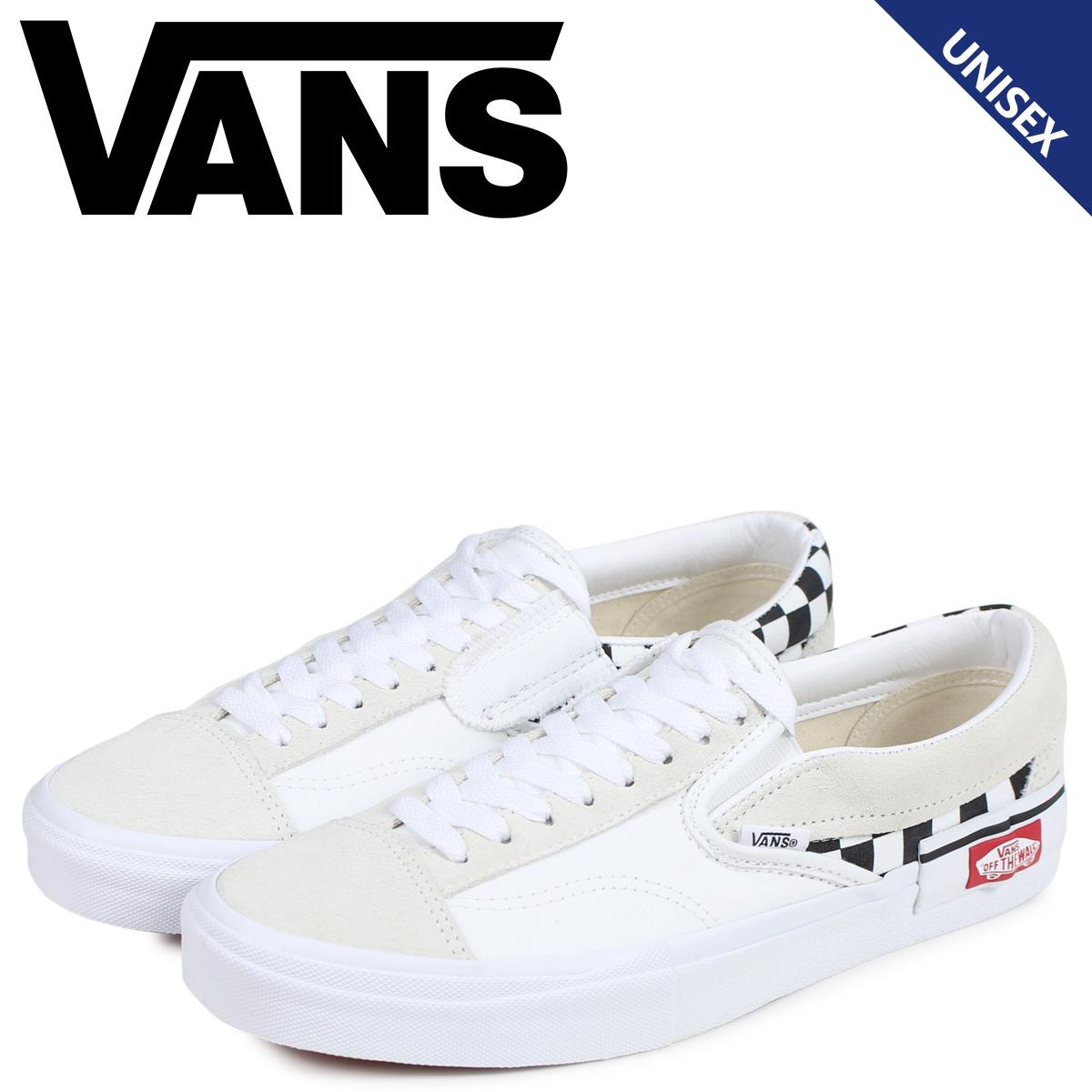バンズ VANS スリッポン スニーカー メンズ ヴァンズ SLIP-ON CAP ホワイト 白 VN0A3WM527I