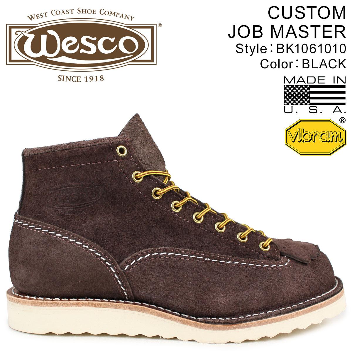 WESCO ジョブマスター ウエスコ ブーツ 6インチ カスタム 6INCH CUSTOM JOB MASTER Eワイズ スエード メンズ ブラウン BR1061010 ウェスコ