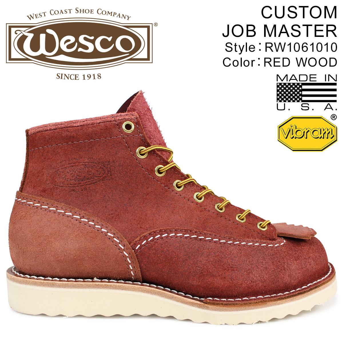 WESCO ジョブマスター ウエスコ ブーツ 6インチ カスタム 6INCH CUSTOM JOB MASTER 2Eワイズ スエード メンズ ブラウン RW1061010 ウェスコ