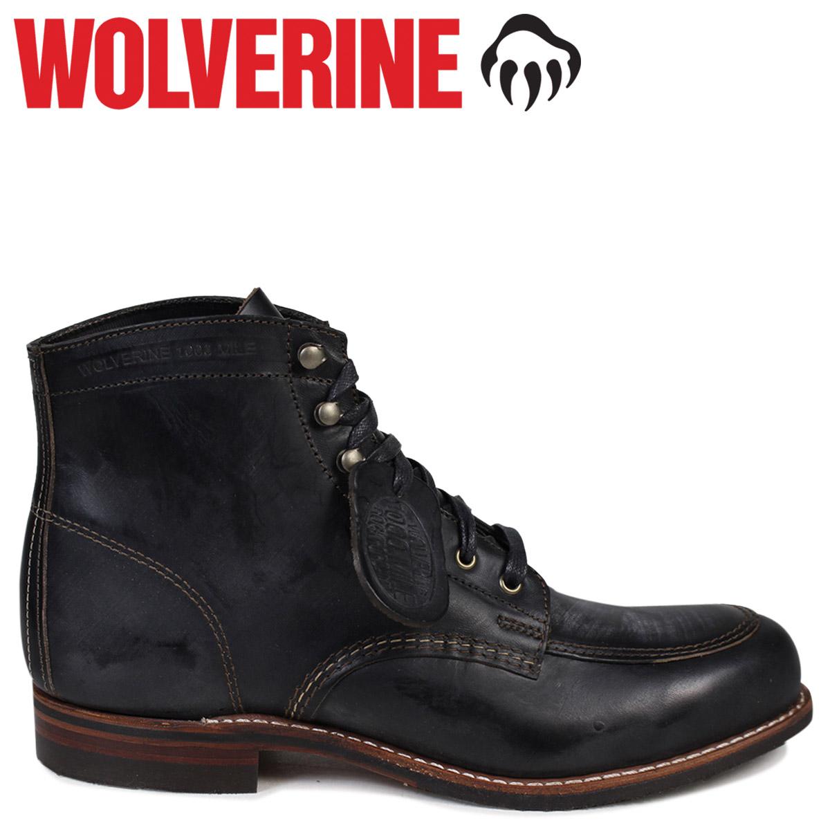 WOLVERINE 1000マイル ブーツ ウルヴァリン 1000MILE ワークブーツ COURTLAND BOOT Dワイズ W00279 ブラック