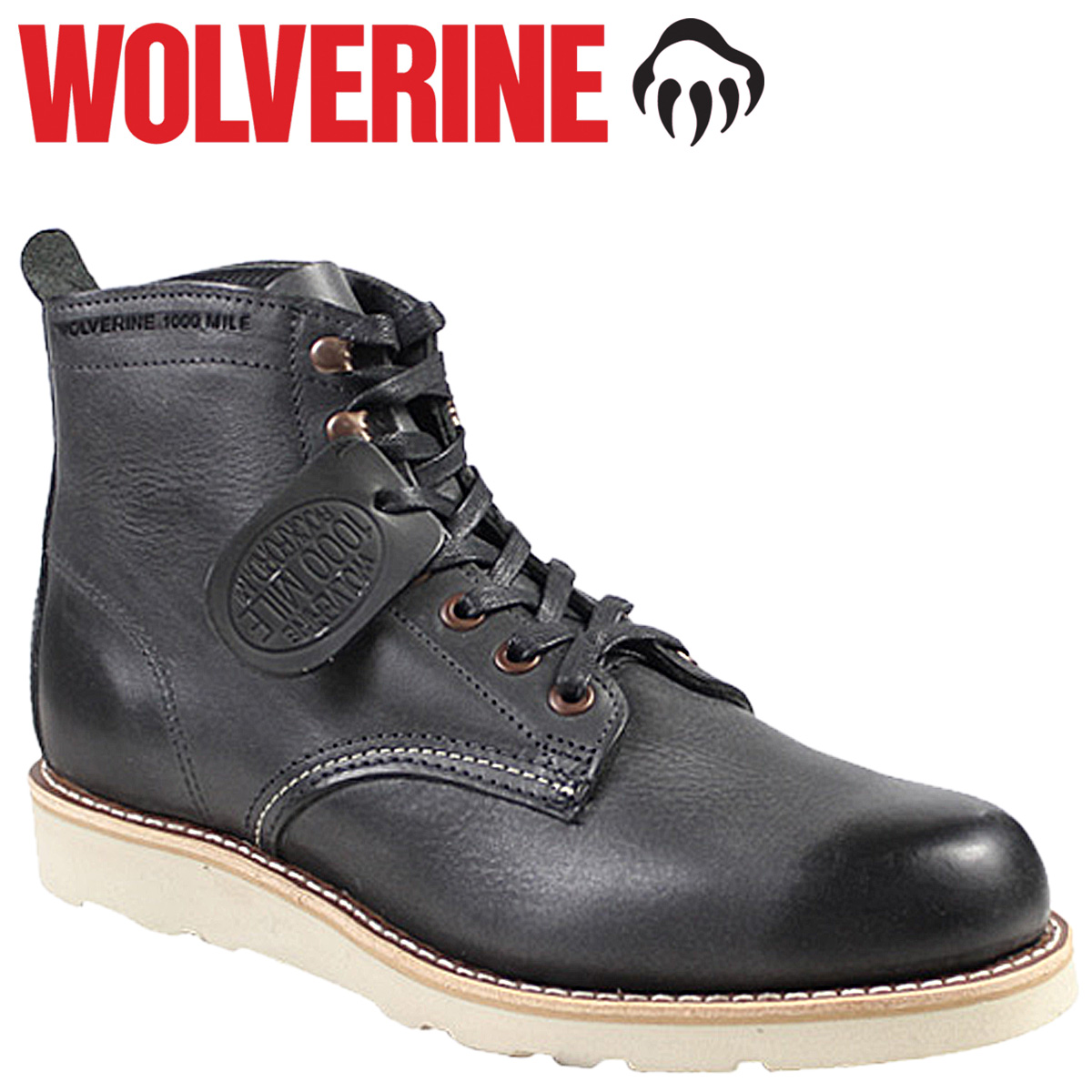 7e751f7e4bc Point 2 x Wolverine WOLVERINE Prestwick 1000 mile wedge boots PRESTWICK  1000 MILE WEDGE BOOT D wise leather men's work boots W00914 black [11 / 14  new ...