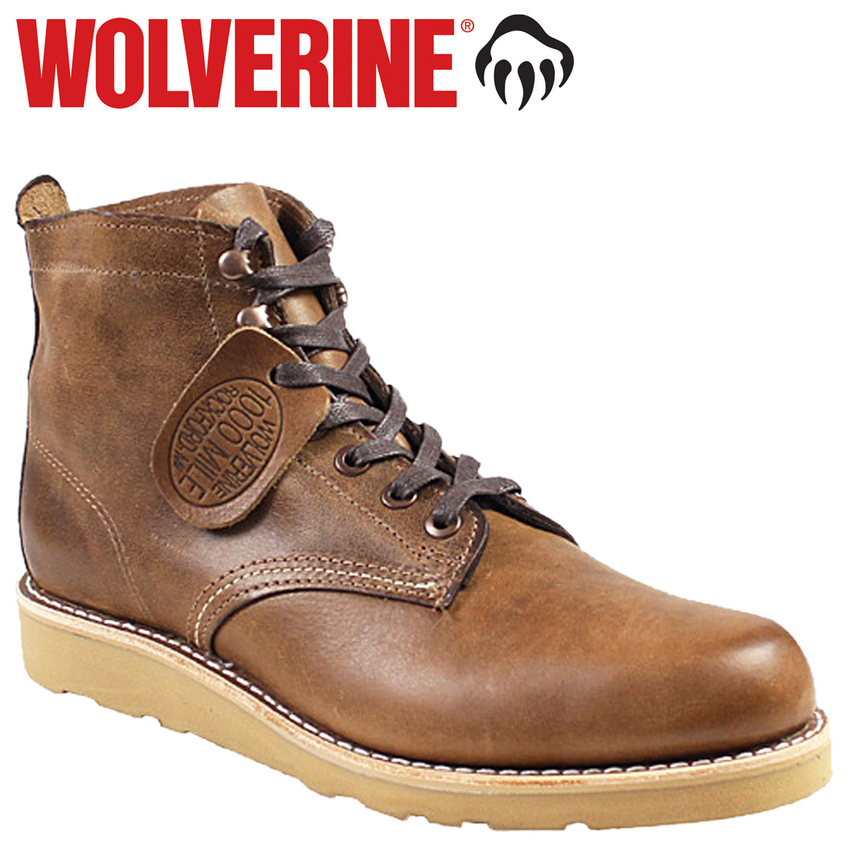 WOLVERINE 1000マイル ブーツ ウルヴァリン 1000MILE PRESTWICK WEDGE BOOT Dワイズ W00915 ブラウン ワークブーツ