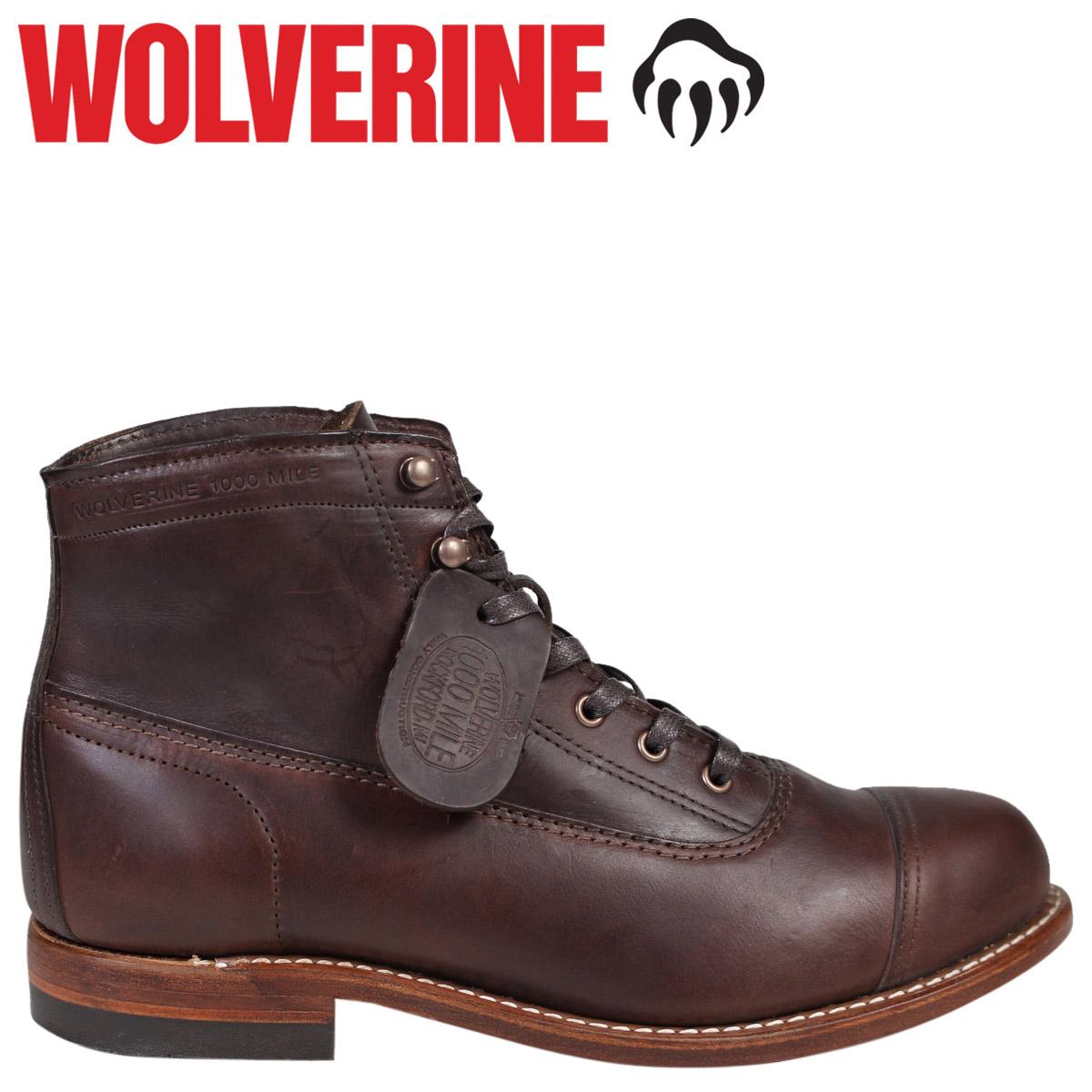 WOLVERINE ウルヴァリン 1000マイル ブーツ ROCKFORD 1000 MILE CAP-TOE BOOT Dワイズ W05293 ブラウン ワークブーツ メンズ