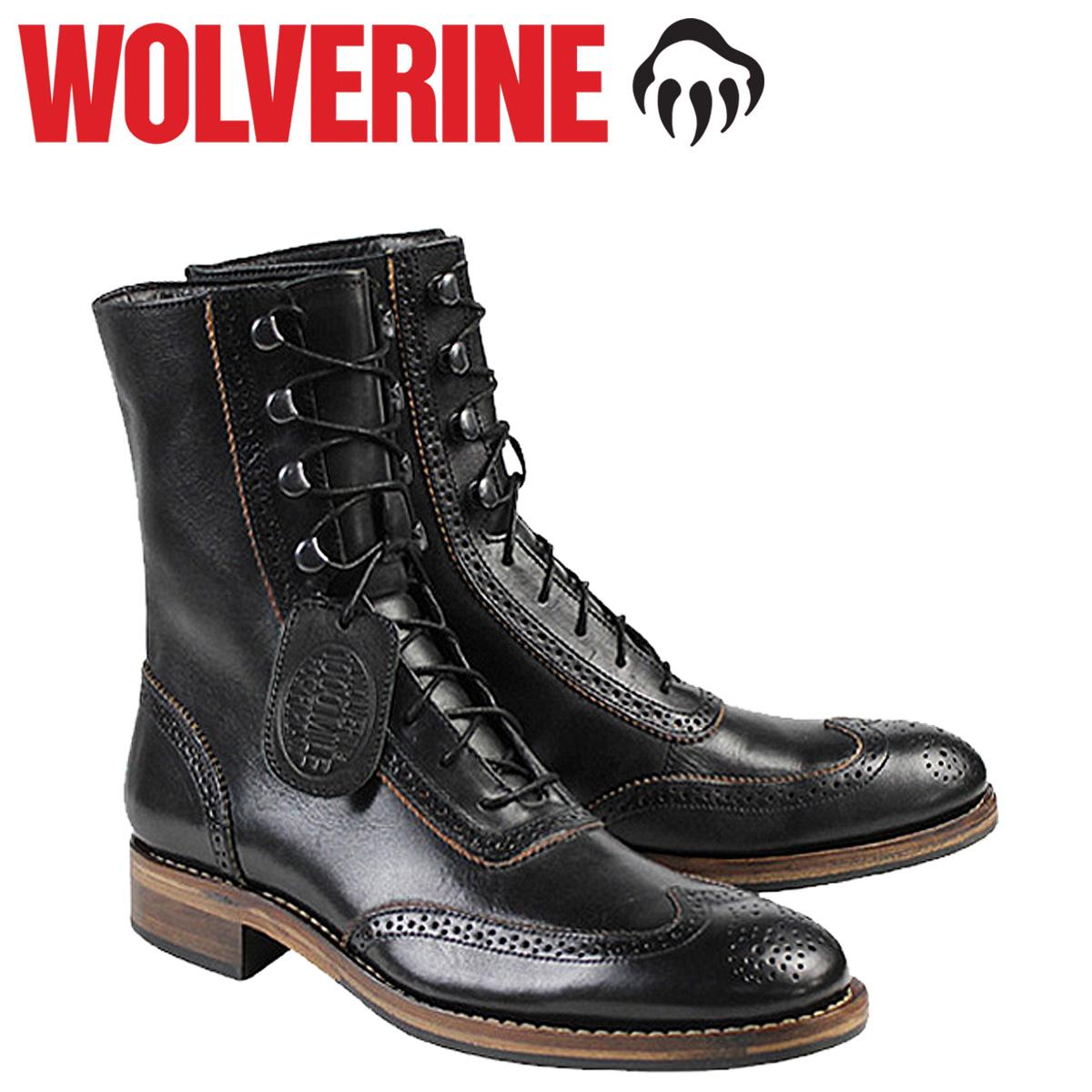 WOLVERINE ウルヴァリン 1000マイル ブーツ WINCHESTER 1000 MILE BROGUE BOOT Dワイズ W06492 ブラック ワークブーツ メンズ