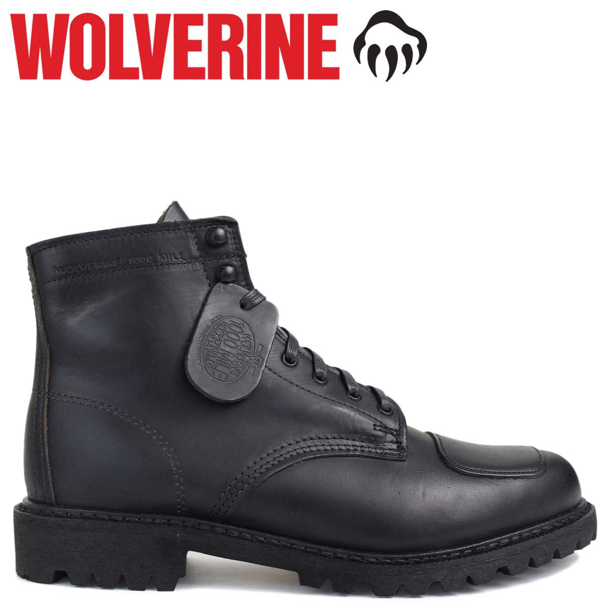 WOLVERINE 1000マイル ウルヴァリン ブーツ メンズ 1000 MILE DYLAN MONO BOOT Dワイズ W40300 ブラック 黒 ワークブーツ