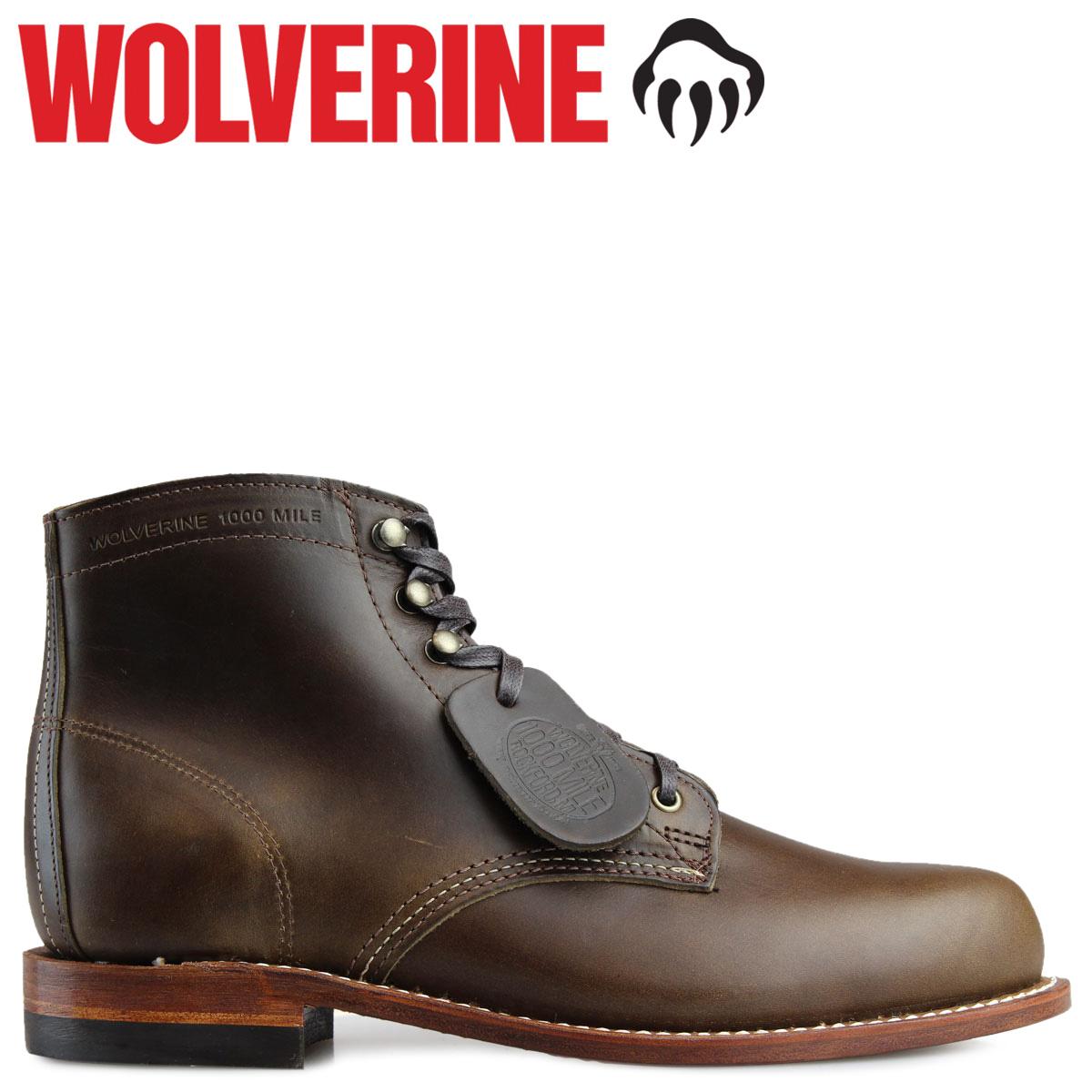 4063a6ceee7 WOLVERINE 1000 マイルブーツウルヴァリン ORIGINAL 1000 MILE BOOT men D Wise W40387 work  boots dark olive
