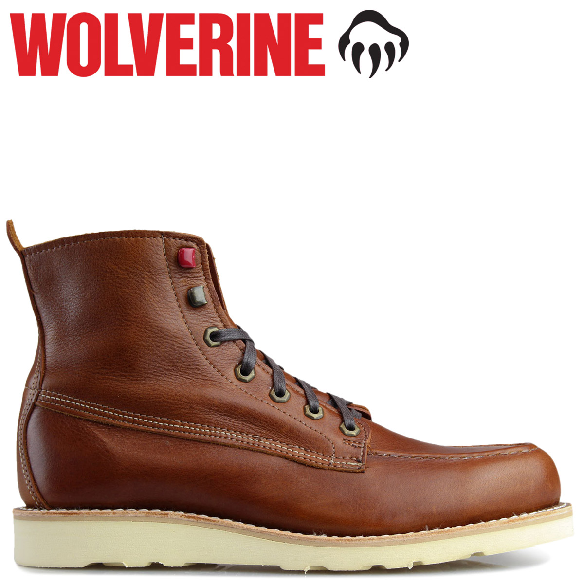 e8e71a7ab8e WOLVERINE ブーツウルヴァリンメンズ LOUIS WEDGE BOOT D Wise W40411 brown work boots