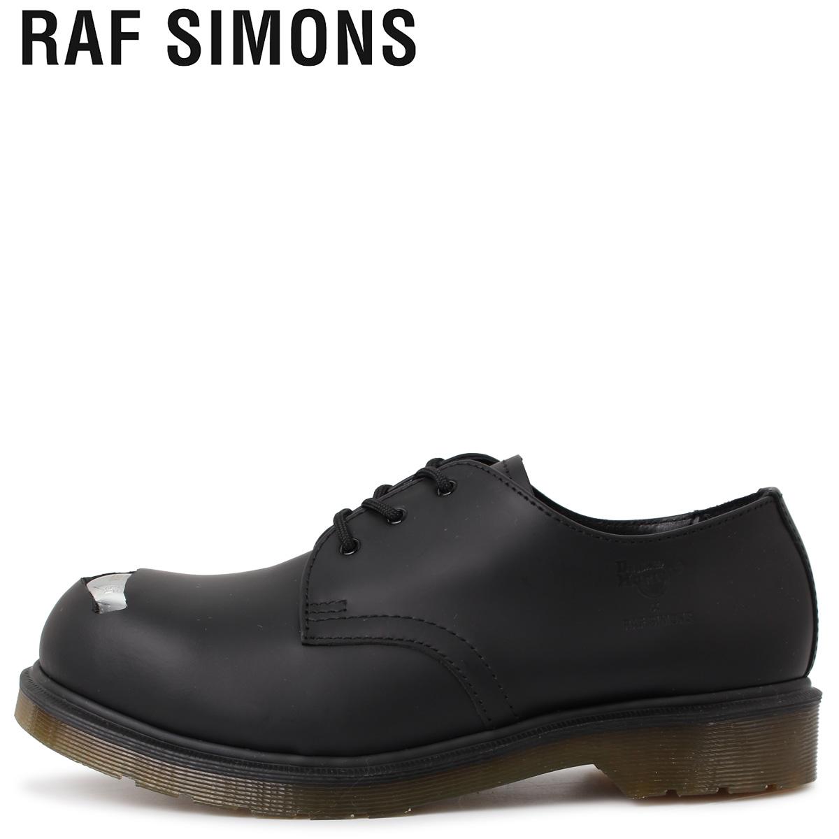 Dr.Martens ドクターマーチン RAF SIMONS ラフシモンズ 3ホール シューズ メンズ コラボ CUT OUT STEEL TOES SHOE ブラック 黒 192-936D