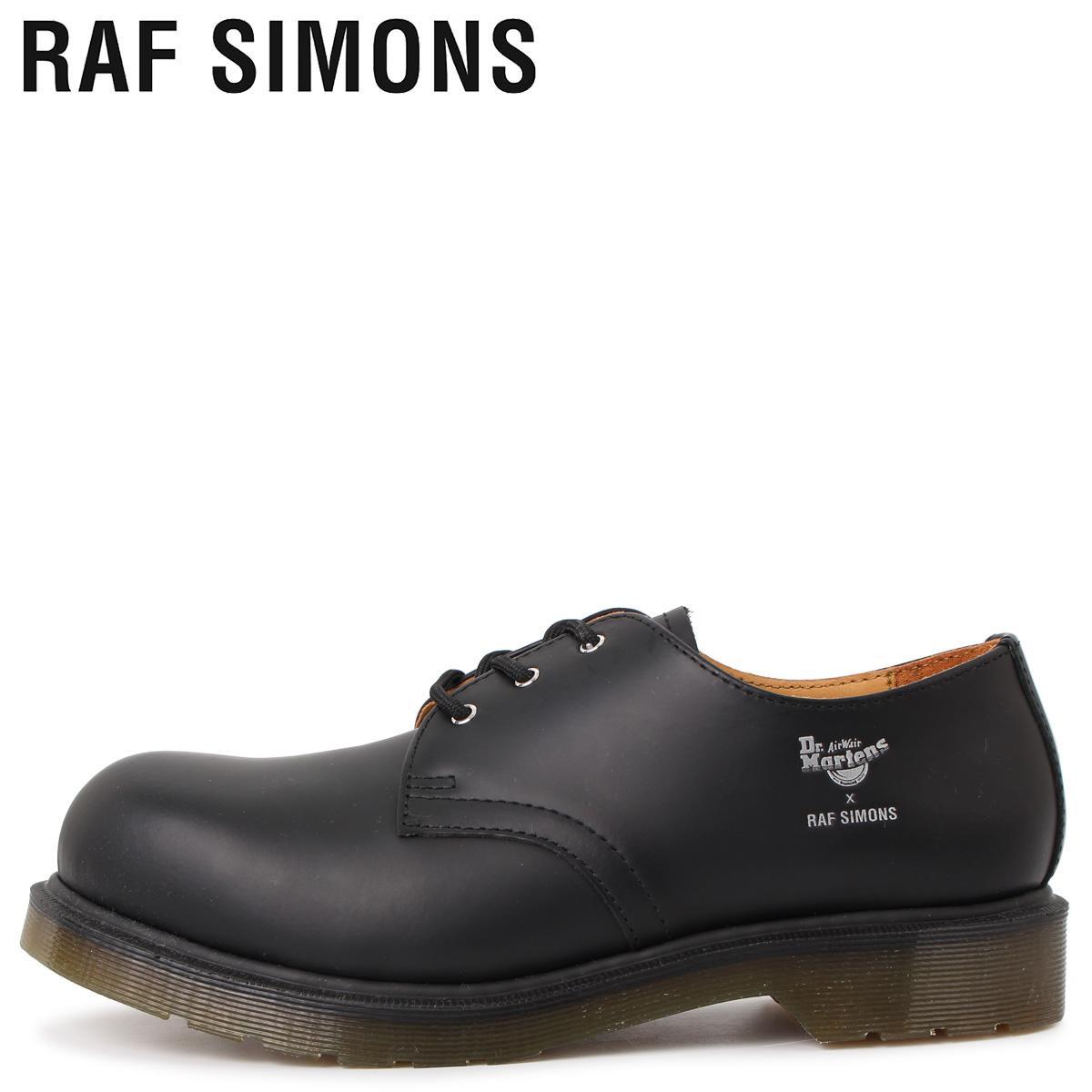 Dr.Martens ドクターマーチン RAF SIMONS ラフシモンズ 3ホール シューズ メンズ コラボ ASYMMETRIC CUT OUT STEEL TOE SHOE ブラック 黒 192-937D