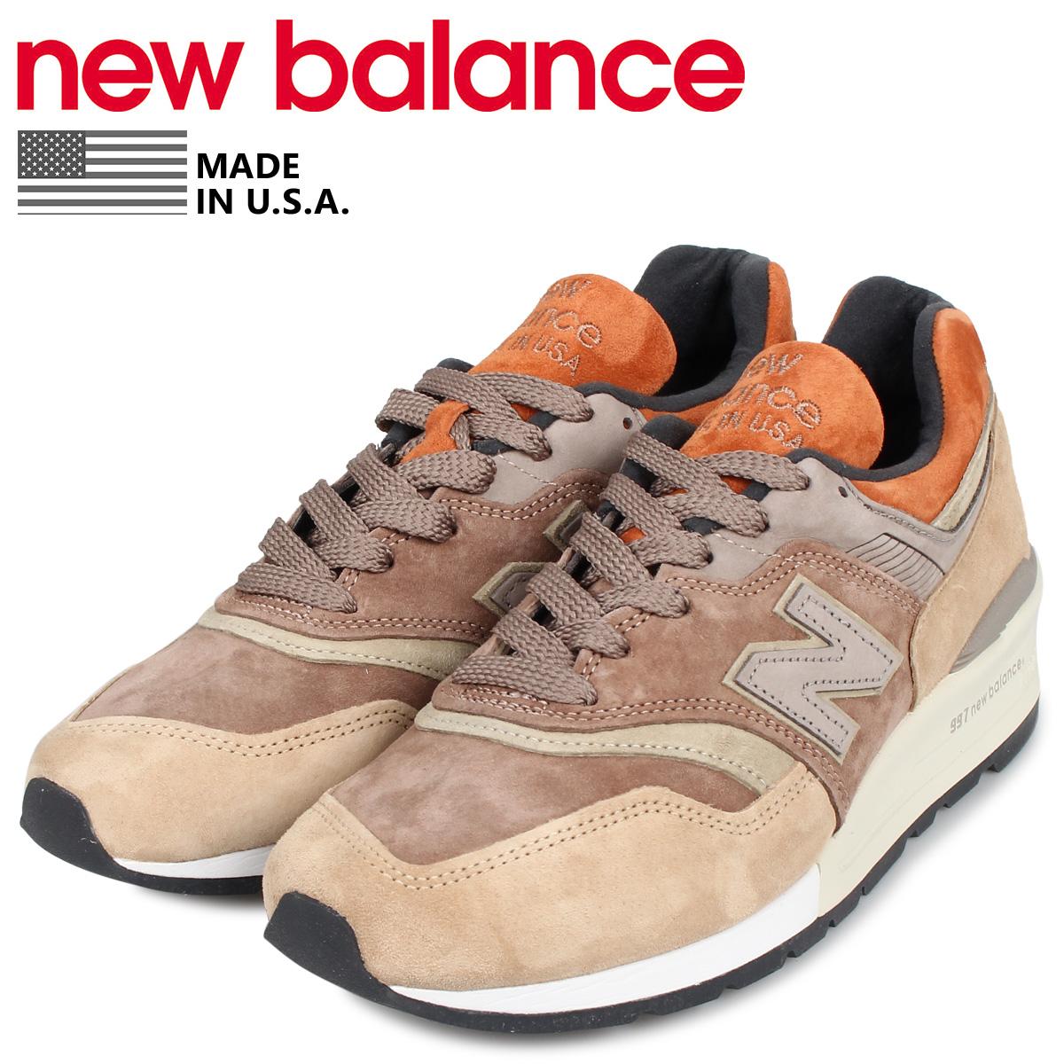 new balance ニューバランス 997 スニーカー メンズ ワイズ:D ブラウン M997NAJ