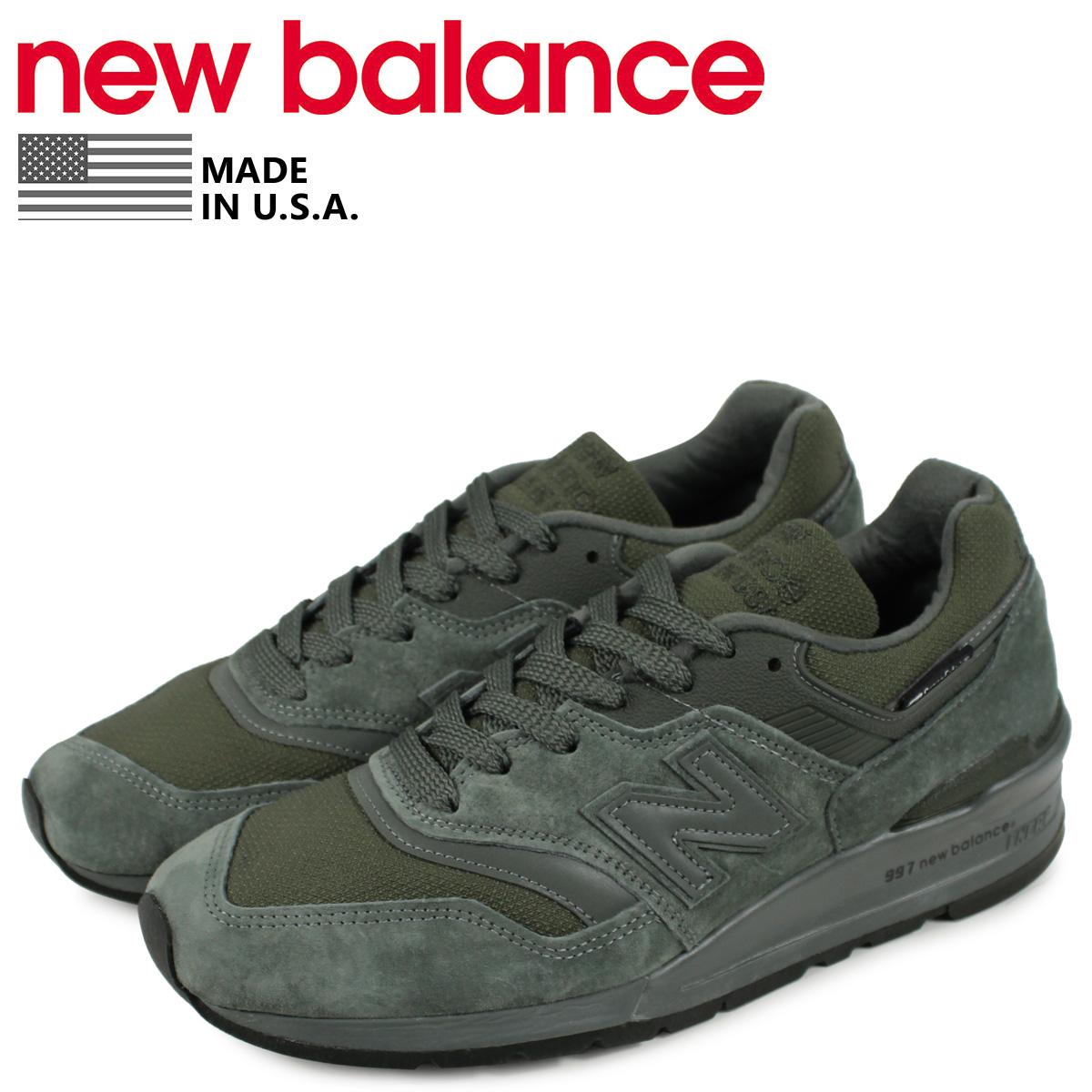 new balance ニューバランス 997 スニーカー メンズ Dワイズ ダーク グリーン M997NAL