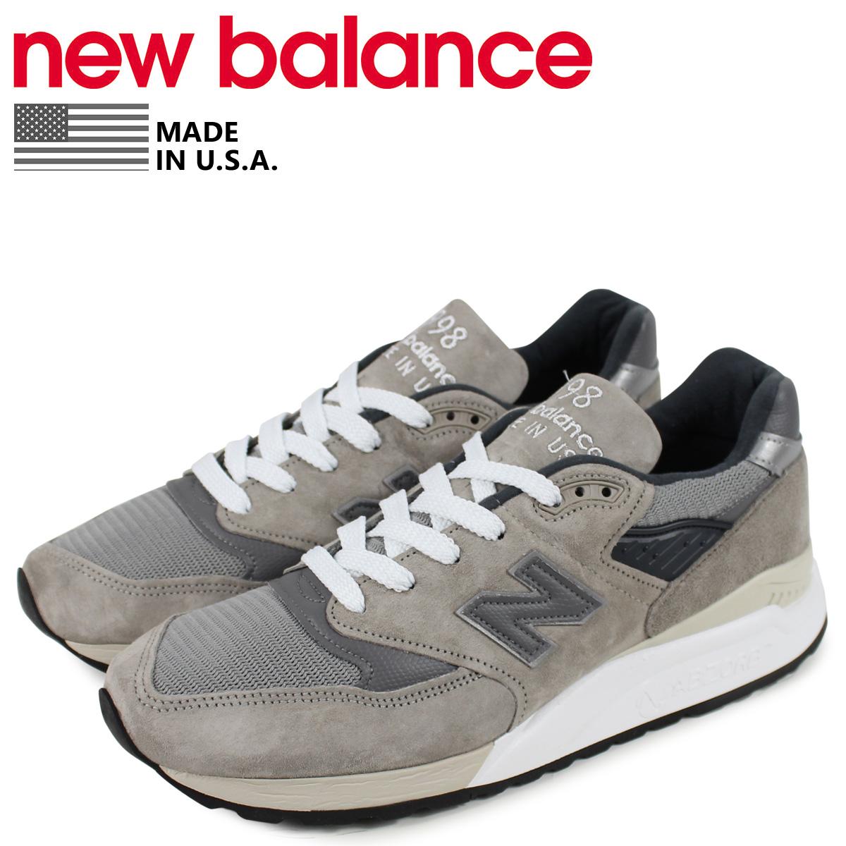 new balance ニューバランス 998 スニーカー メンズ Dワイズ グレー M998BLA
