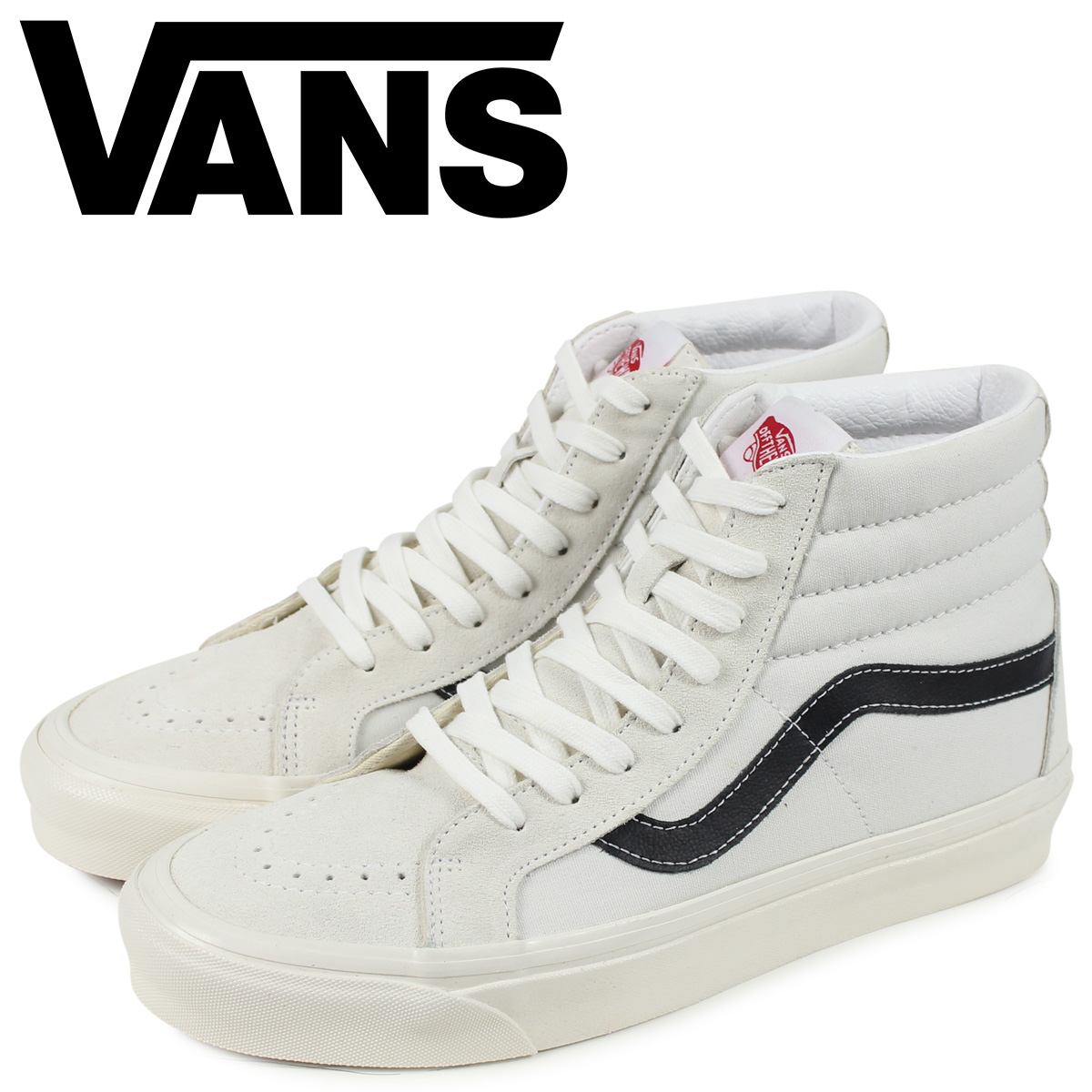 ヴァンズ VANS SK8-HI 38 DX スニーカー メンズ スケートハイ ホワイト 白 VN0A38GFTIP