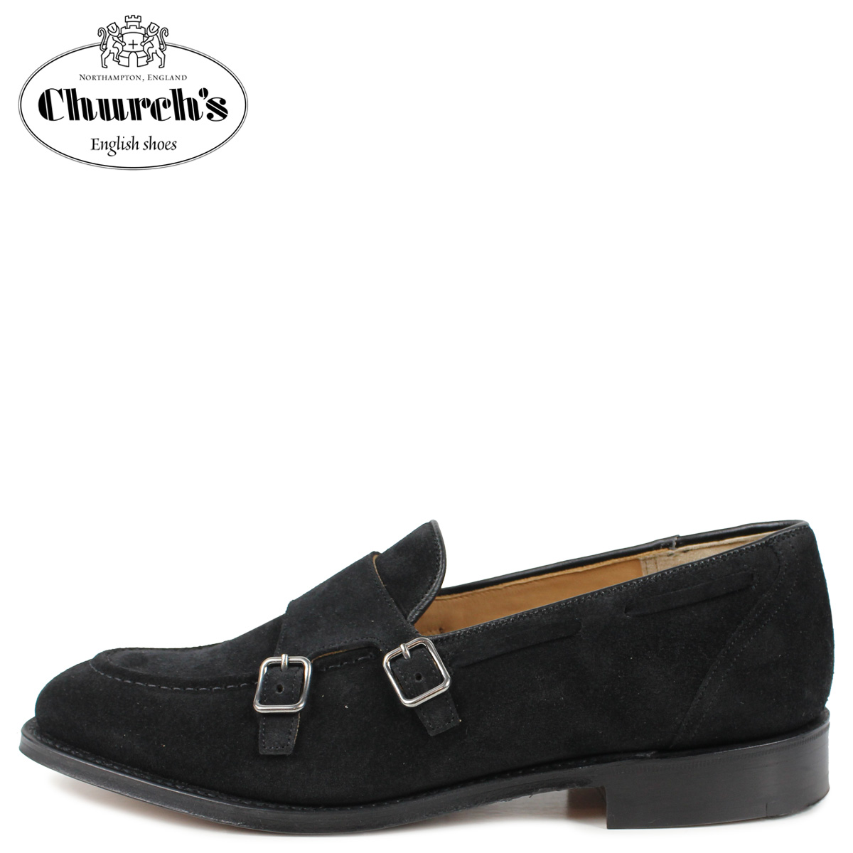 Churchs チャーチ クラットフォード モンクストラップ ローファー メンズ CLATFORD ブラック 黒 EDB080