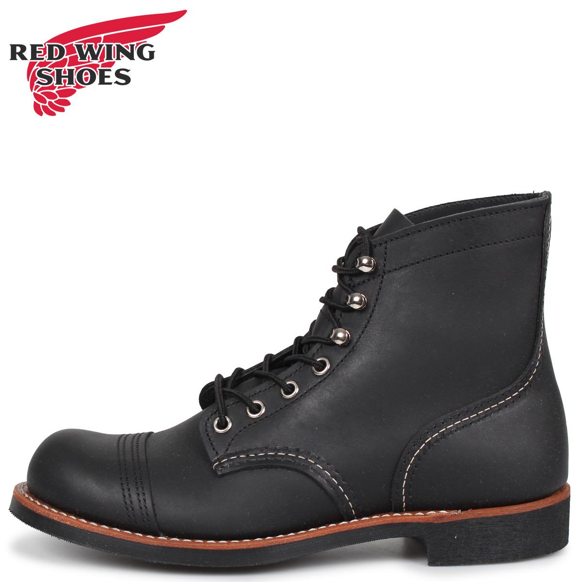 RED WING レッドウィング アイアン レンジ 6インチ ブーツ メンズ Dワイズ アイアンレンジャー 6INCH IRON RANGER ブラック 黒 8084