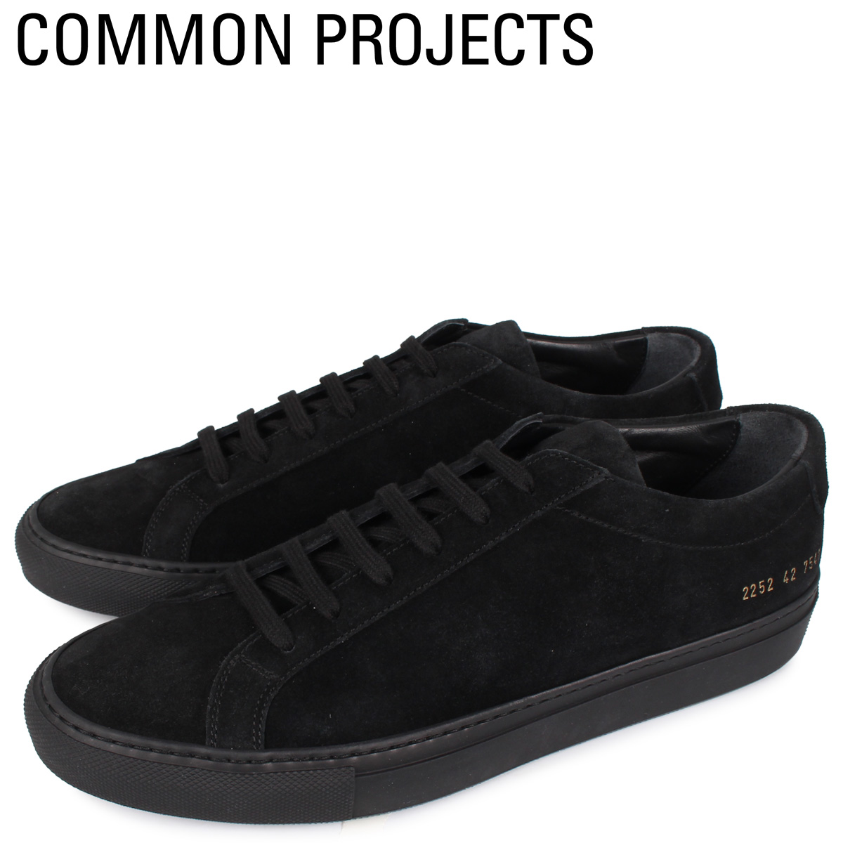 Common Projects コモンプロジェクト アキレス ロー スエード スニーカー メンズ ACHILLES LOW SUEDE ブラック 黒 2252-7547 [4/2新入荷]