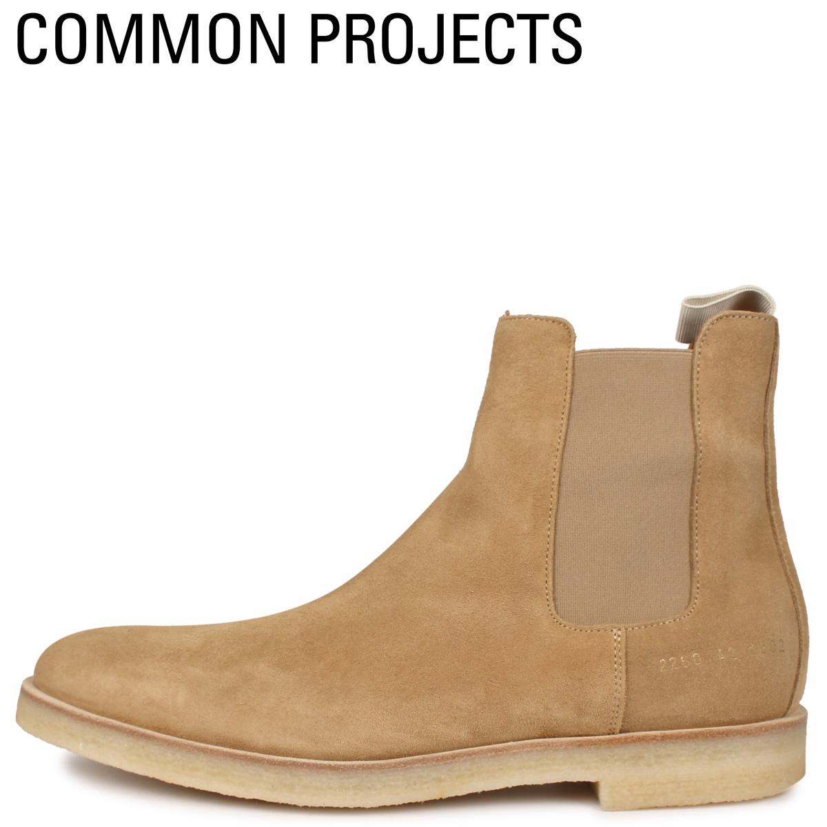 Common Projects コモンプロジェクト チェルシー ブーツ サイドゴアブーツ メンズ CHELSEA BOOT IN SUEDE ベージュ 2260-1302 [4/2新入荷]
