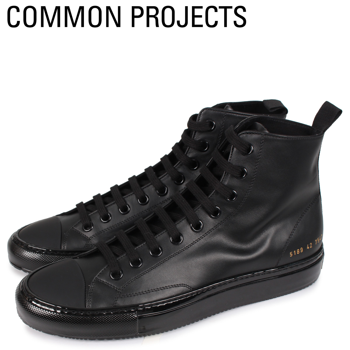 Common Projects コモンプロジェクト トーナメント ハイ スニーカー メンズ TOURNAMENT HIGH IN LEATHER ブラック 黒 5189-7547 [4/2新入荷]