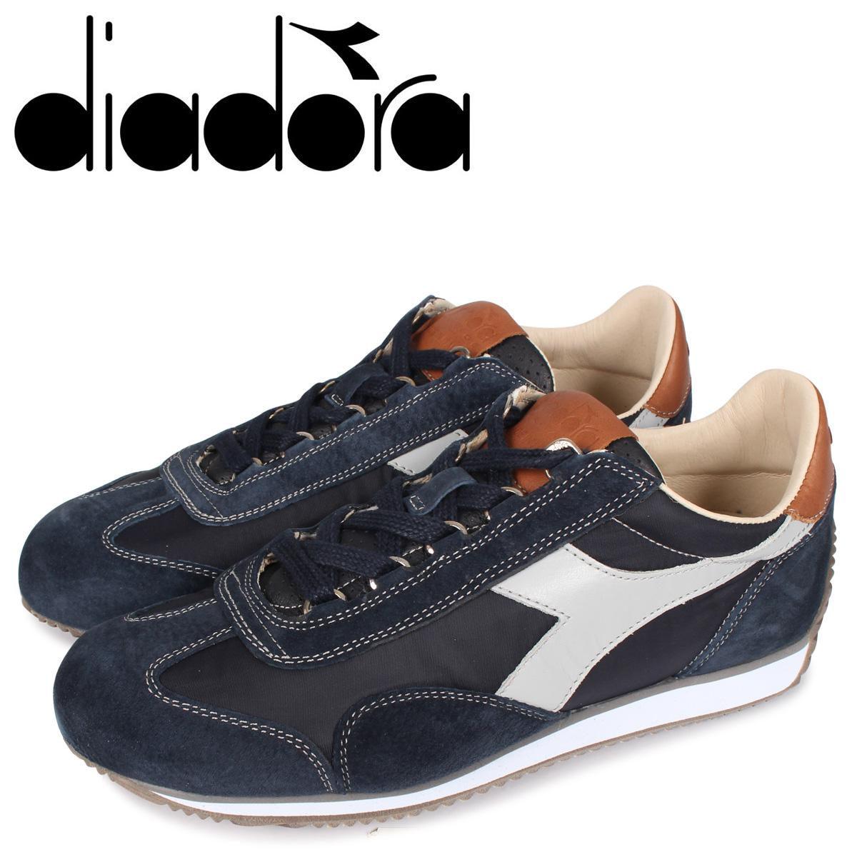 Diadora ディアドラ ヘリテージ エキップ イタリア スニーカー メンズ HERITAGE EQUIPE ITA ブラック 黒 170645-0117 [3/2 新入荷]