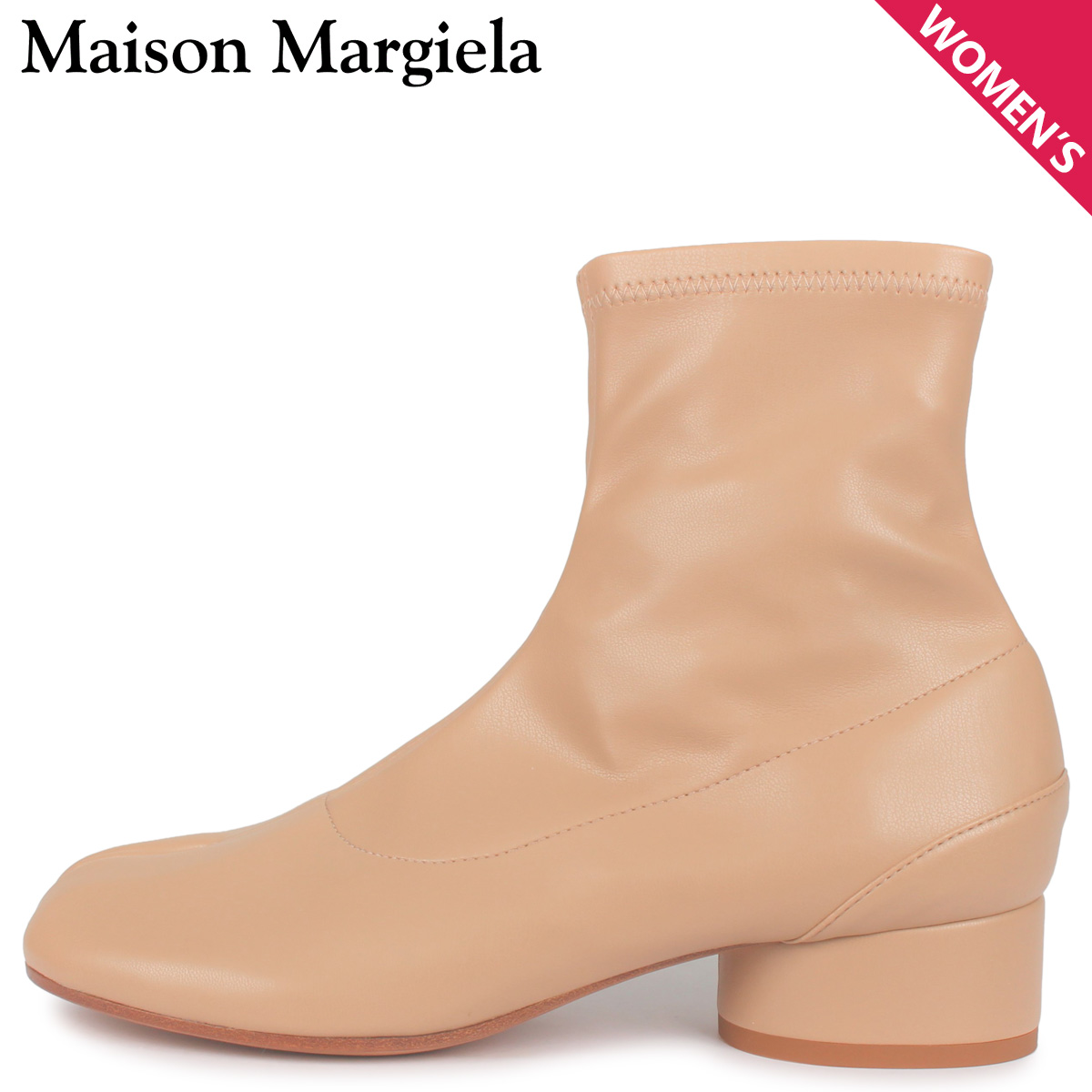 MAISON MARGIELA メゾンマルジェラ ブーツ ショートブーツ アンクルブーツ レディース TABI ANKLE BOOT ベージュ S58WU0270 [3/17 新入荷]