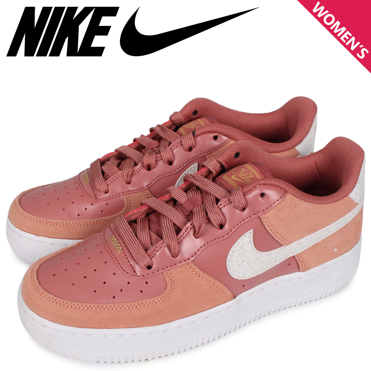 NIKE ナイキ エアフォース1 スニーカー レディース AIR FORCE 1 LV8 GS VALENTINE'S DAY ピンク CD7407-600 [3/3 新入荷]