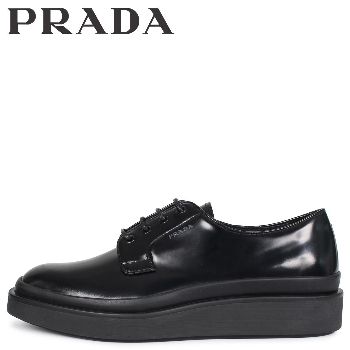 PRADA プラダ シューズ ビジネスシューズ メンズ HIGH SOLE LACE UP ブラック 黒 2EE311 [3/3 新入荷]