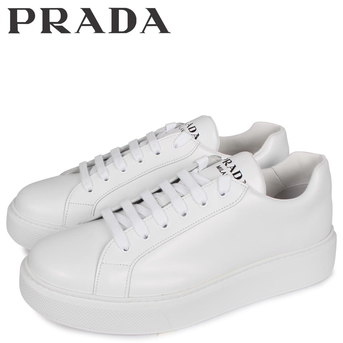 PRADA プラダ スニーカー メンズ NEW SNEAKER FONDO CASSETTA ホワイト 白 4E3489 [3/3 新入荷]