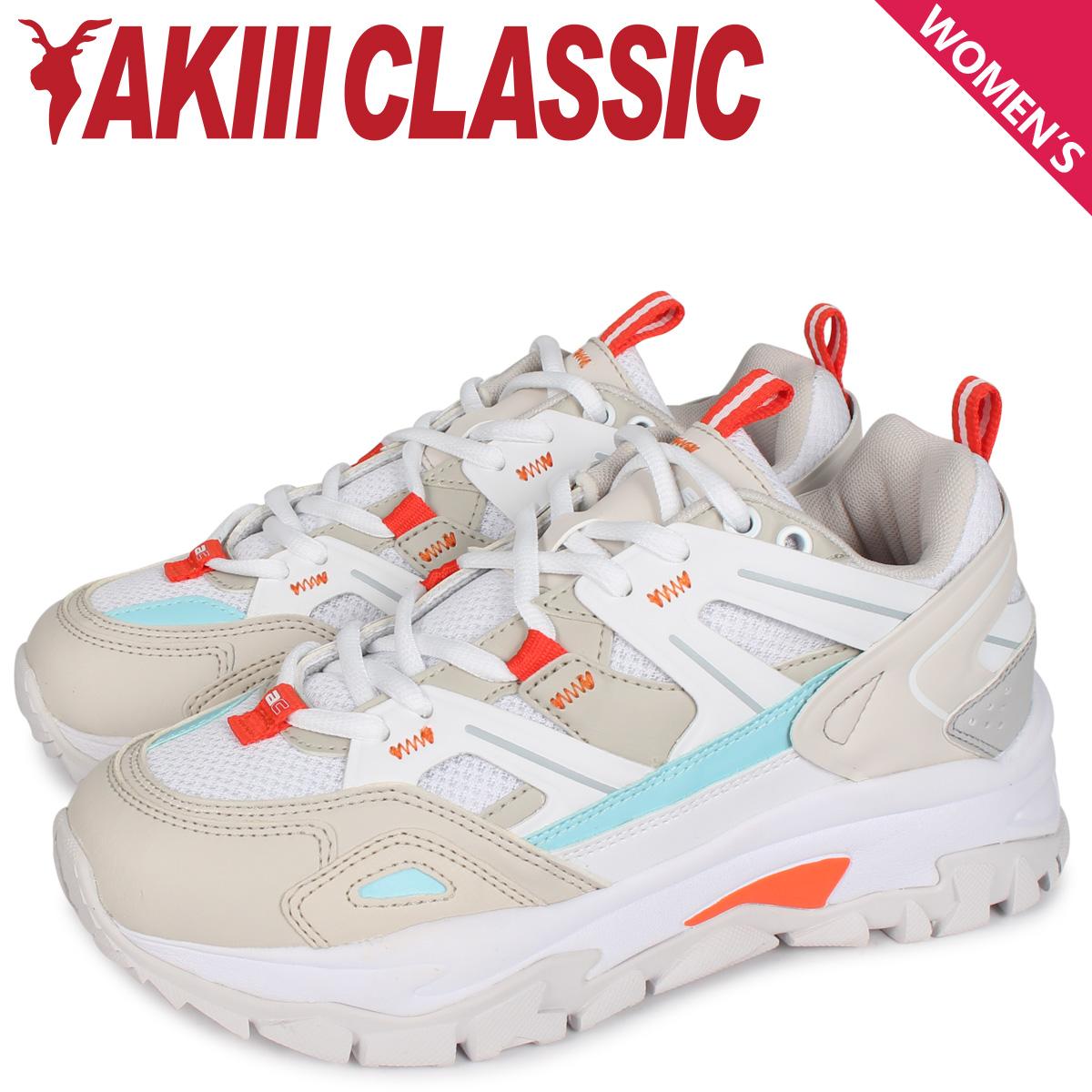 AKIII CLASSIC アキクラシック ランブル スニーカー ダッドシューズ レディース 厚底 RUMBLE ホワイト 白 AKC0001 [4/10 新入荷]