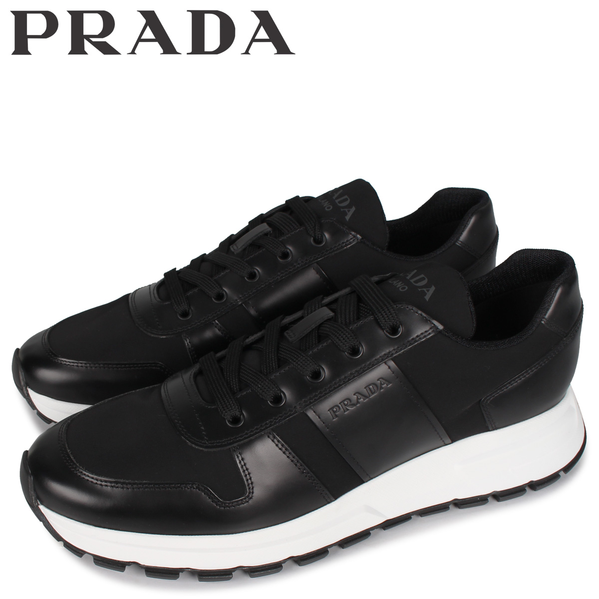 PRADA プラダ スニーカー メンズ PRAX 01 SNEAKER NYLON ブラック 黒 4E3463 [5/4 新入荷]