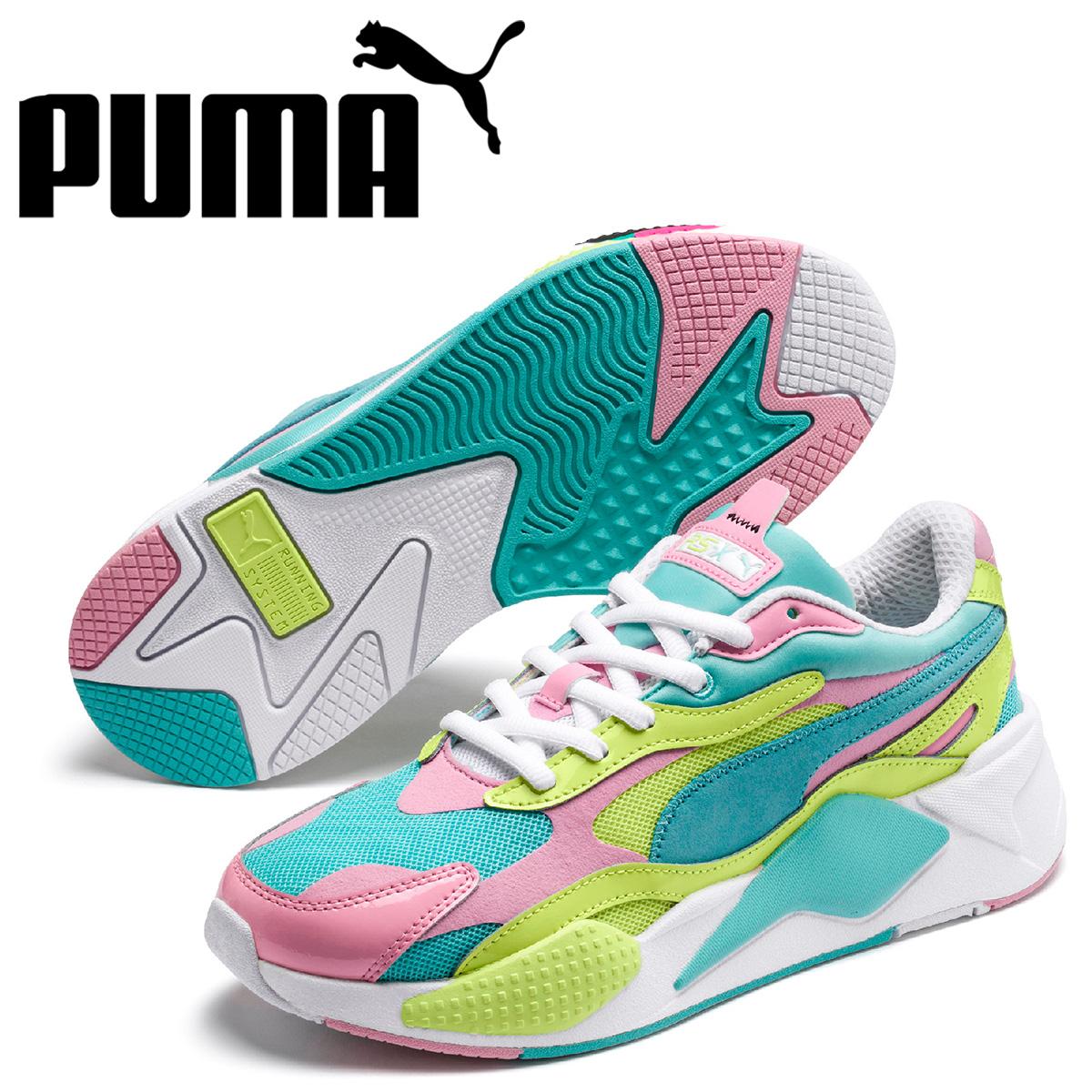 PUMA プーマ スニーカー メンズ RS-X3 PLASTIC ブルー 37156905 [予約 5月上旬 新入荷予定]