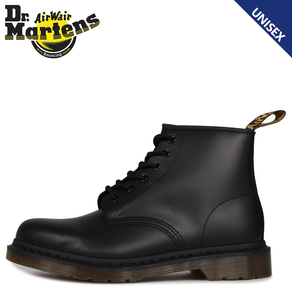 送料無料 あす楽対応 22.5cm-28cm 実物 ドクターマーチン Dr.Martens ブーツ 101 6ホール メンズ ブラック R24255001 6EYE 優先配送 BOOTS レディース 黒