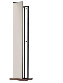 【送料無料】 ハンガーラックつき スタンドミラー 全2色 スーツ ハンガーミラー 金属 ミラー スタイリッシュ 鏡 ナチュラル クール 姿見 シンプル 人気 ブラウン 茶 リビング 鏡台 おしゃれ イス デザイナーズ 安い 弘益 通販 メイク ドレッサー インテリア 激安 お得