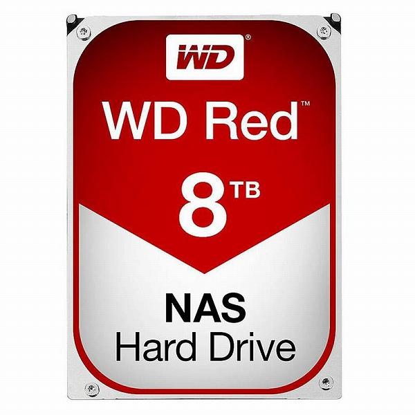 【送料無料】Western Digital WD RED HDD 8TB WD80EFAX ウエスタンデジタル ハードドライブ