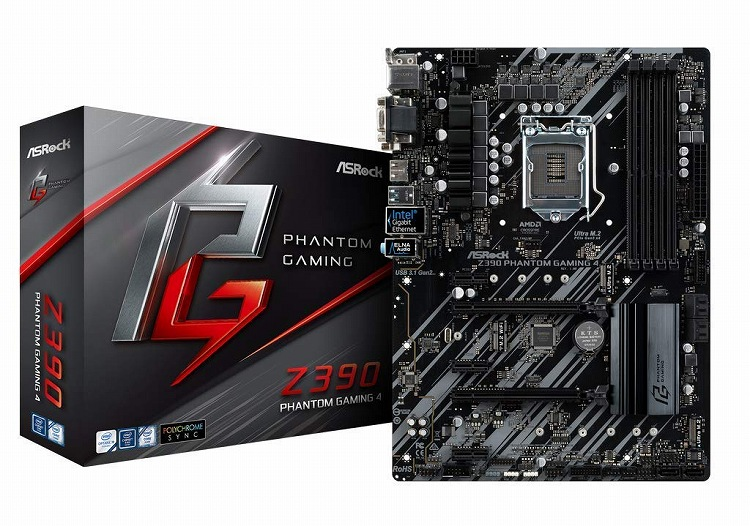 【送料無料】ASRock Intel ATX Z390 PHANTOM GAMING ATX 4 4 マザーボード Intel Z390 チップセット, 亀岡市:6a57896c --- zagifts.com